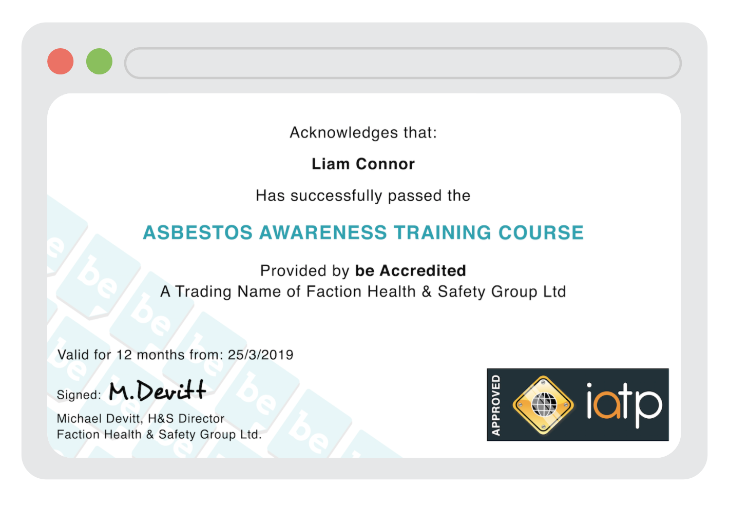Unlimited IATPAsbestos Training - IATP accredited, online asbestos awareness training, for all staff & sub-contractors.