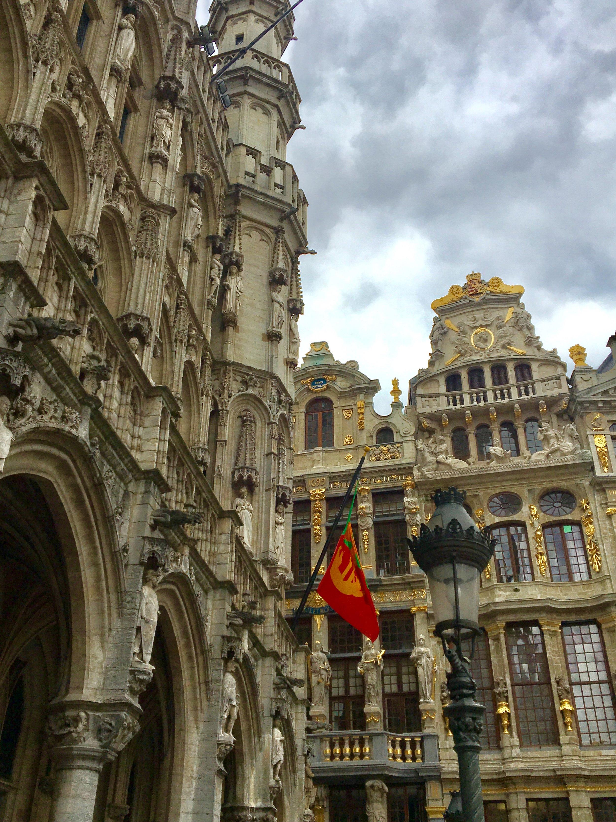Ornate Buildings Surround Grote Markt