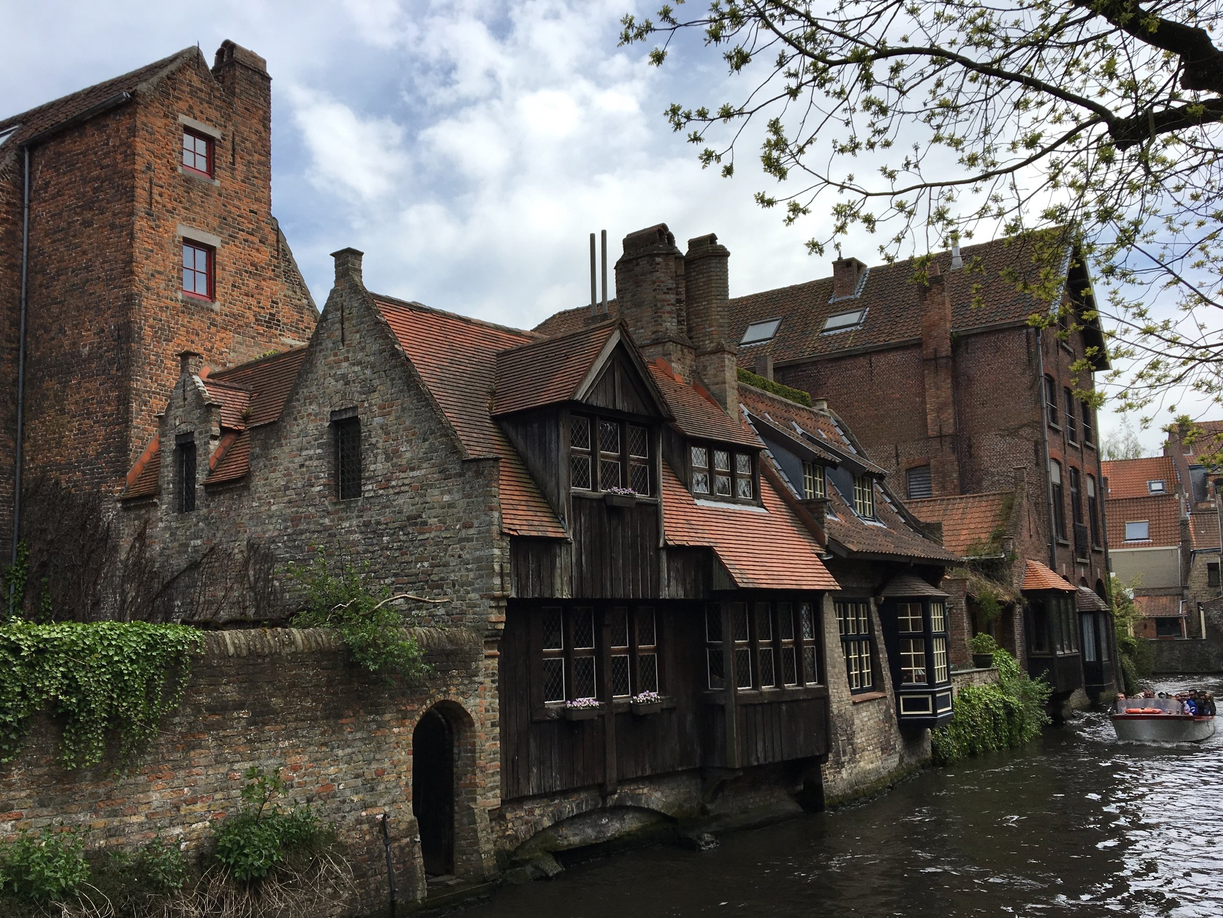 Canal Side Medieval Architecture of Bruges