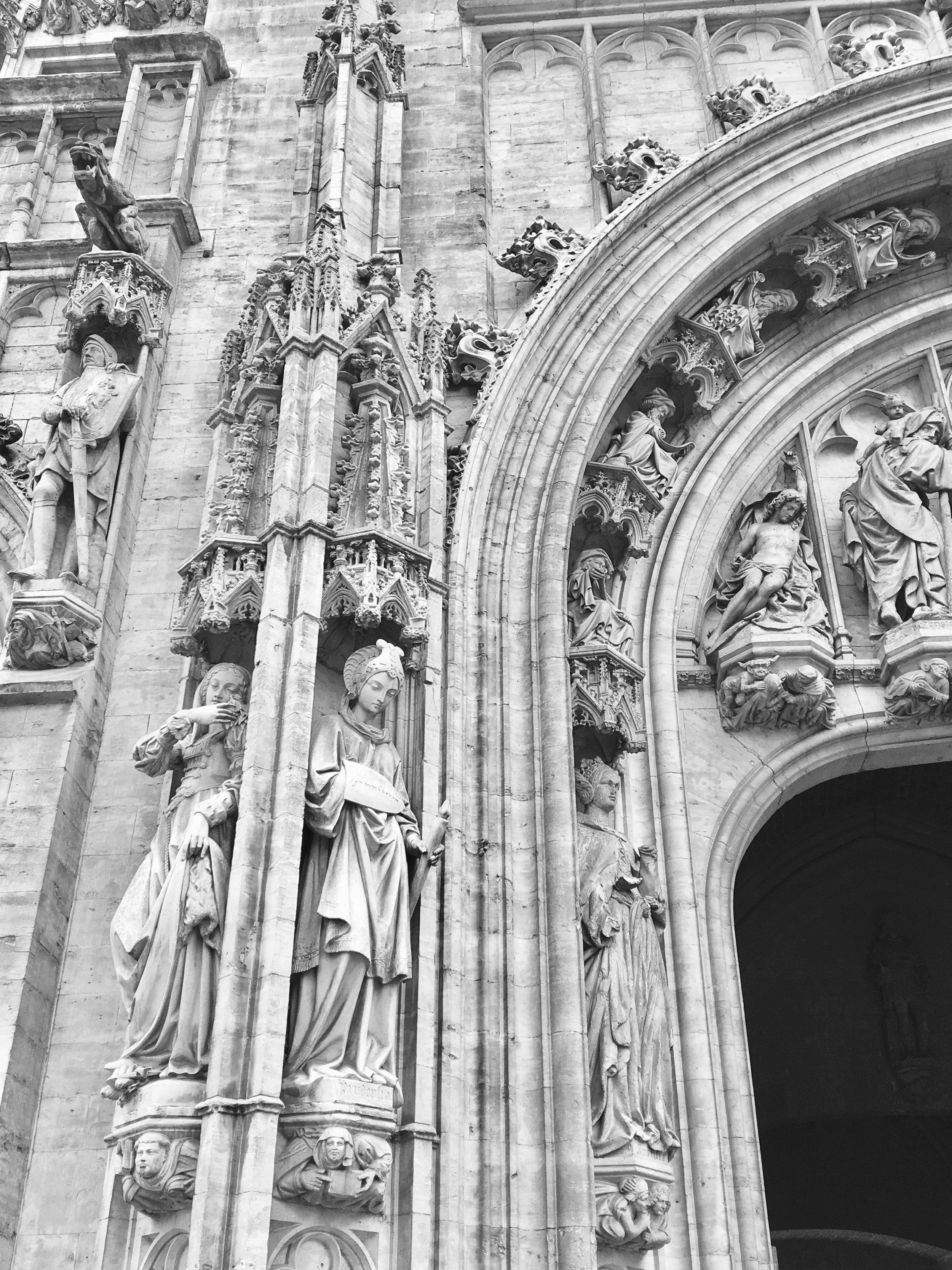 Ornate Detail on Guildhalls of Grote Markt