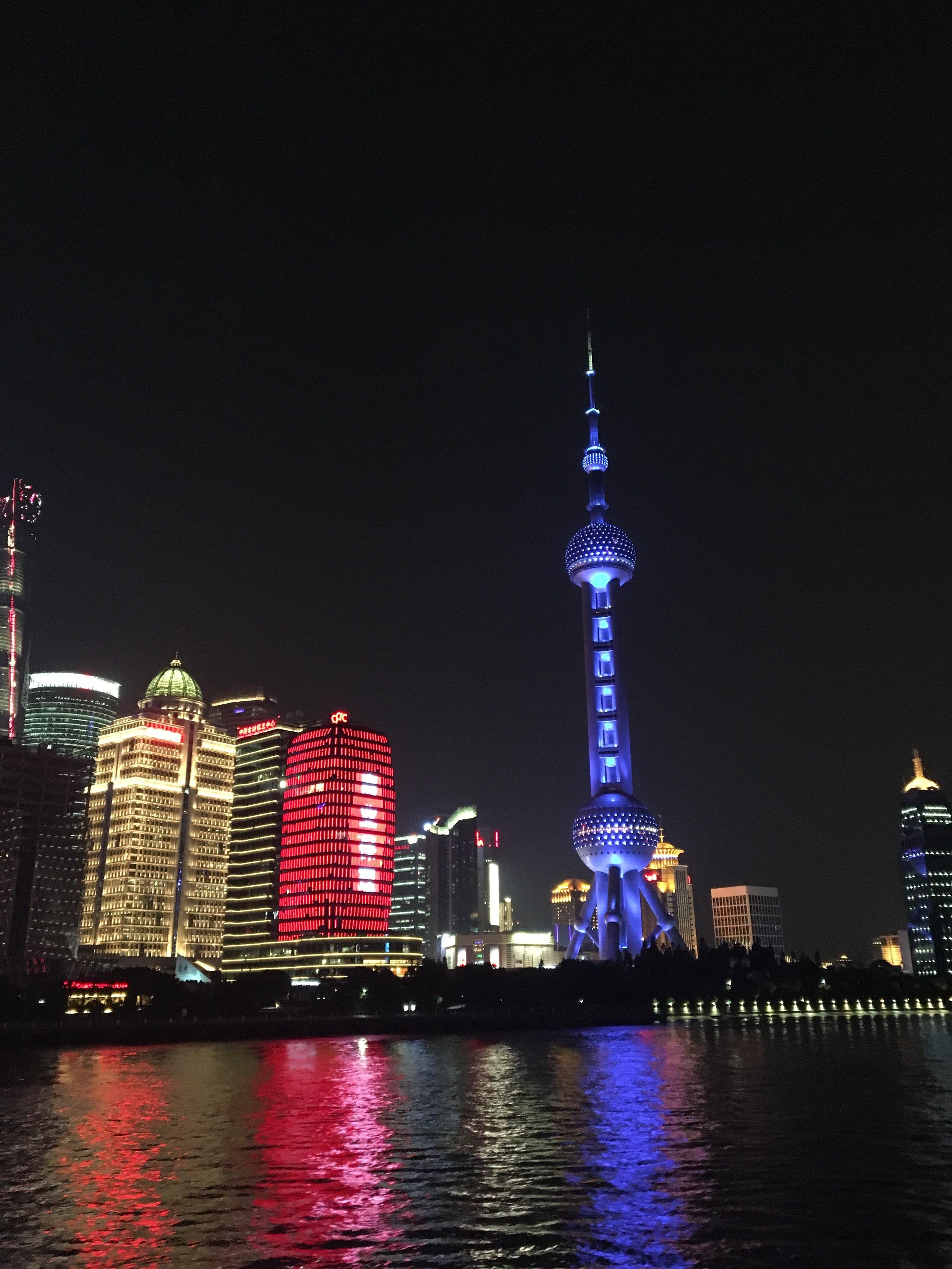Shanghai Riverside Lights Up