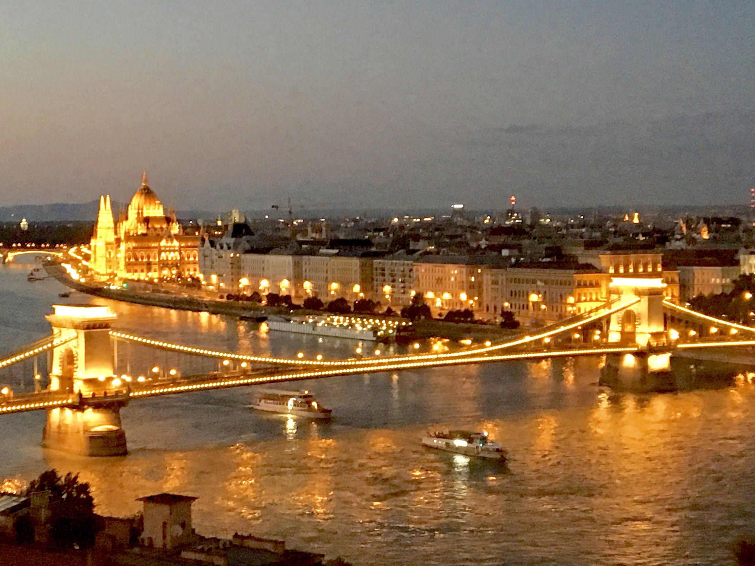 In Buda overlooking Pest