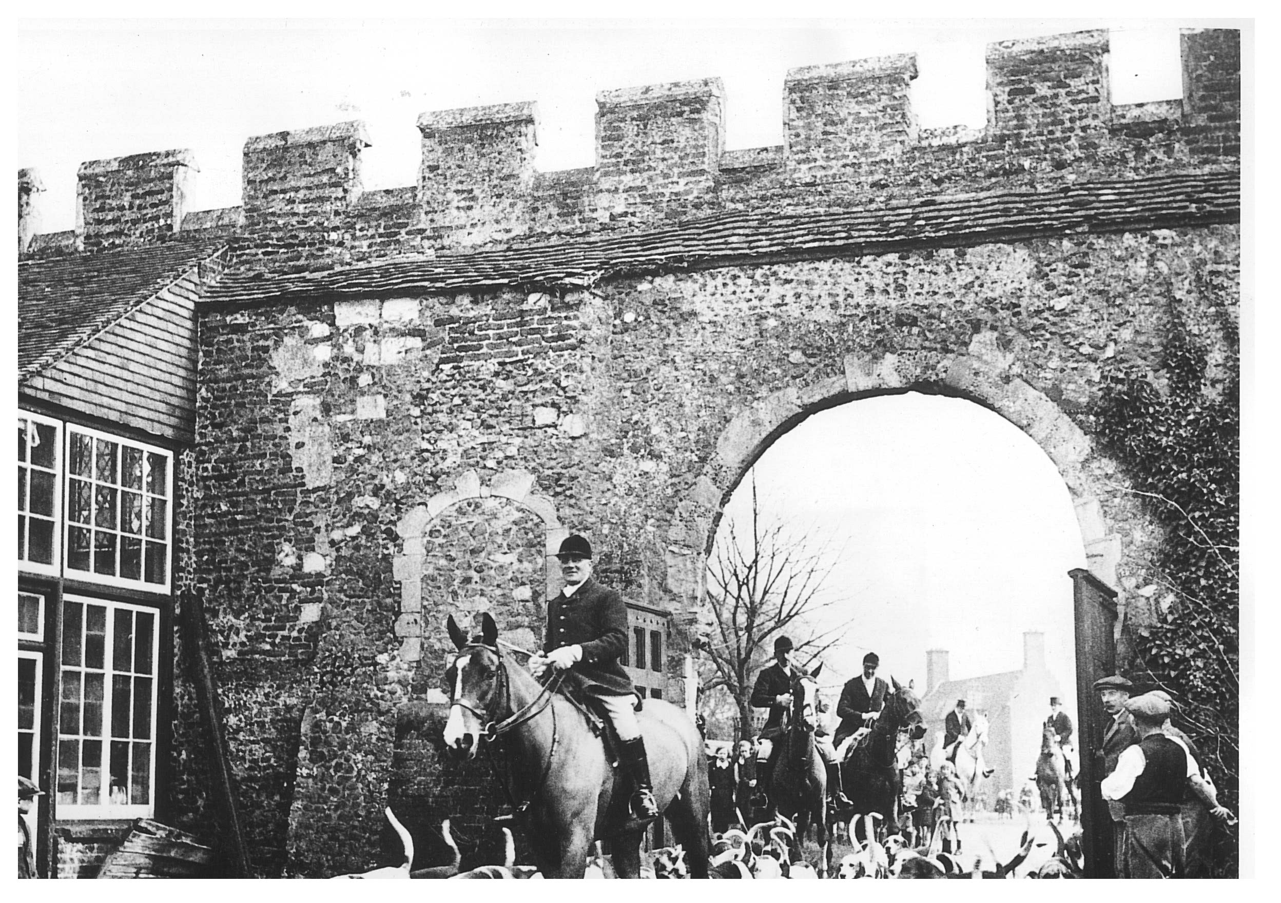 St Osyth - the pack moving under the old archert bridge.jpg