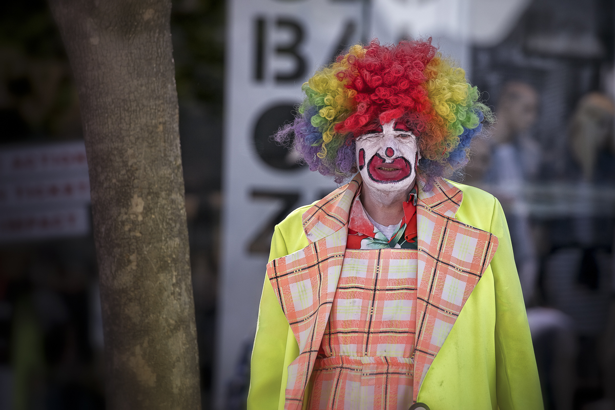 Clown in Santa Monica, USA, 2014
