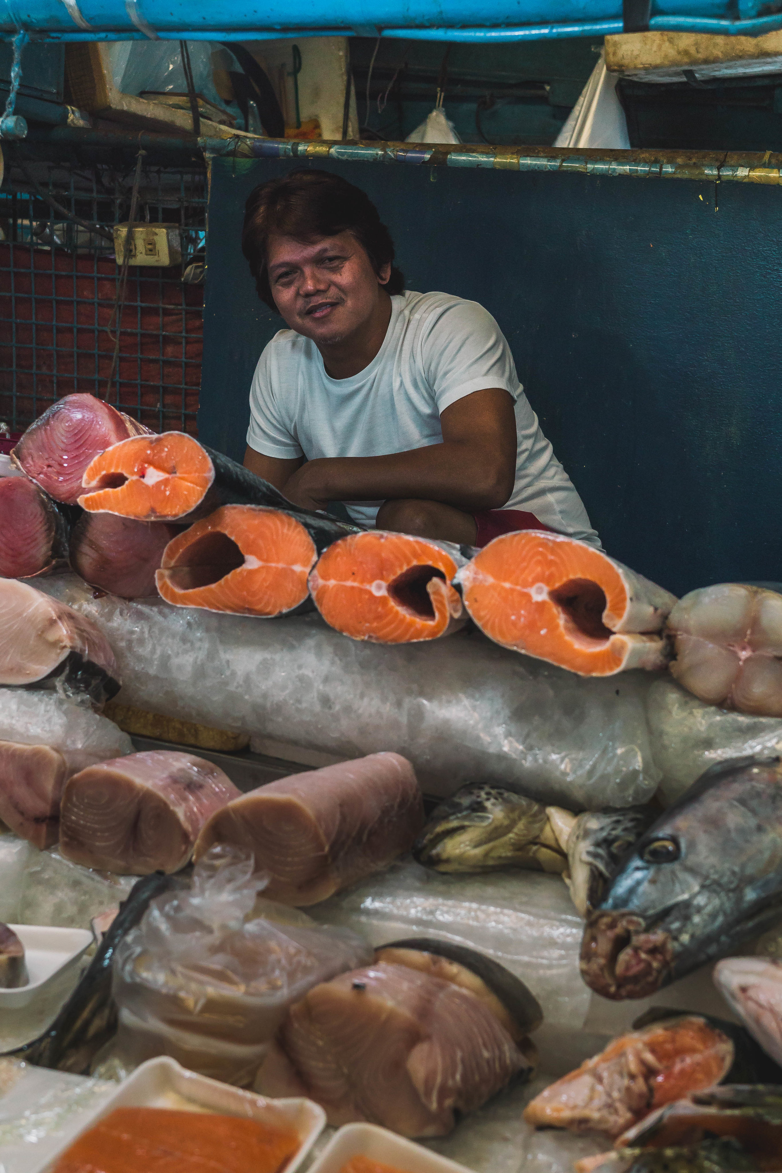 Fish vendor II, the Philippines