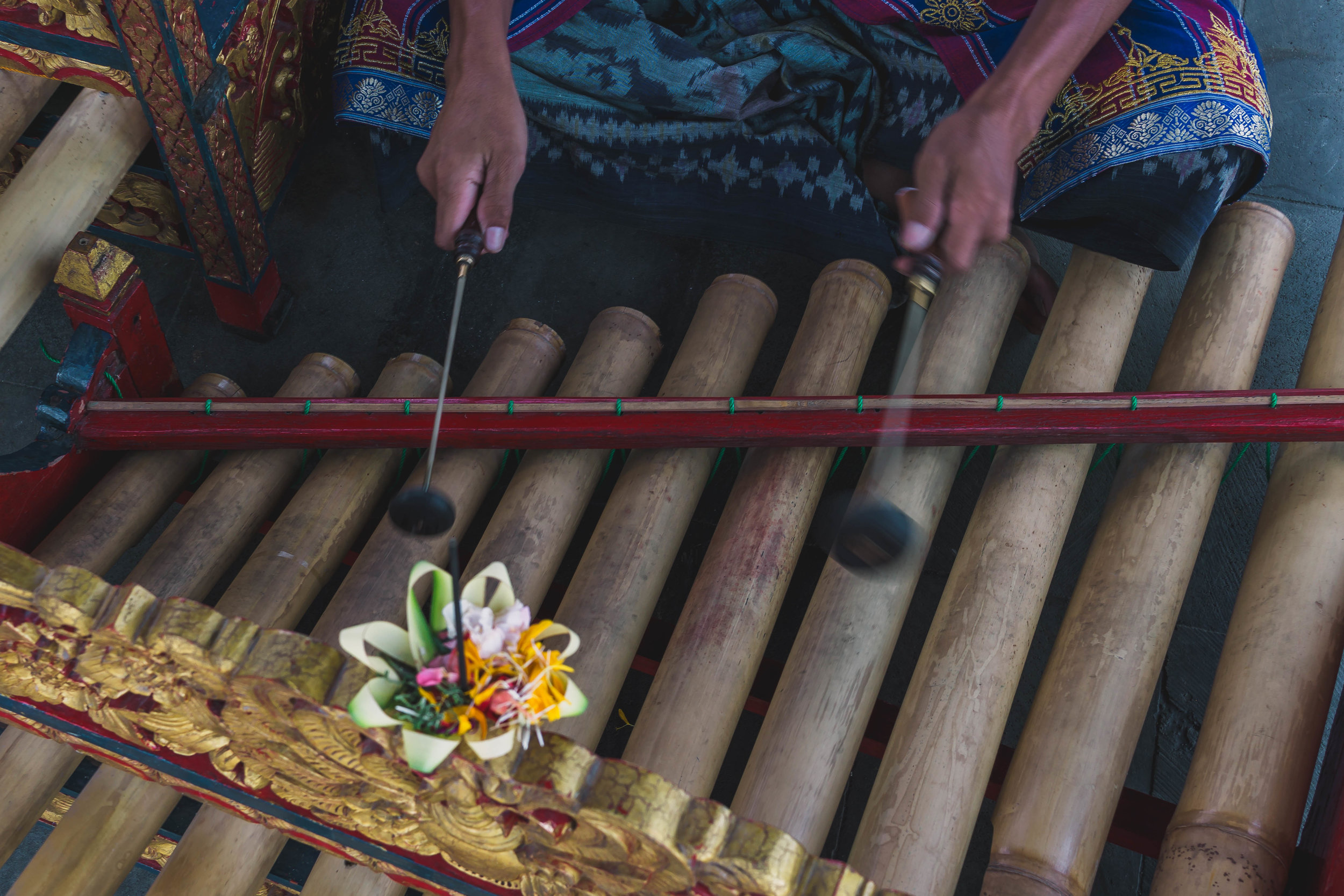 Bamboo xylophone, Indonesia