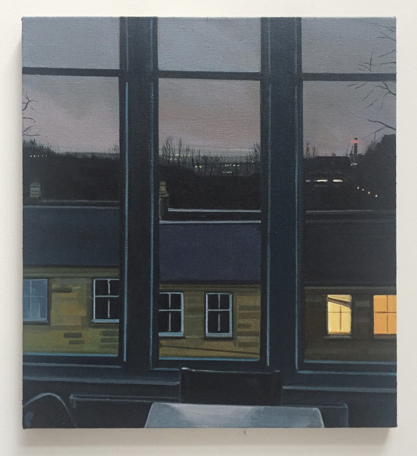 Wilton St. Window 5 , December 2017, 22 x 20 inches, acrylic on linen.