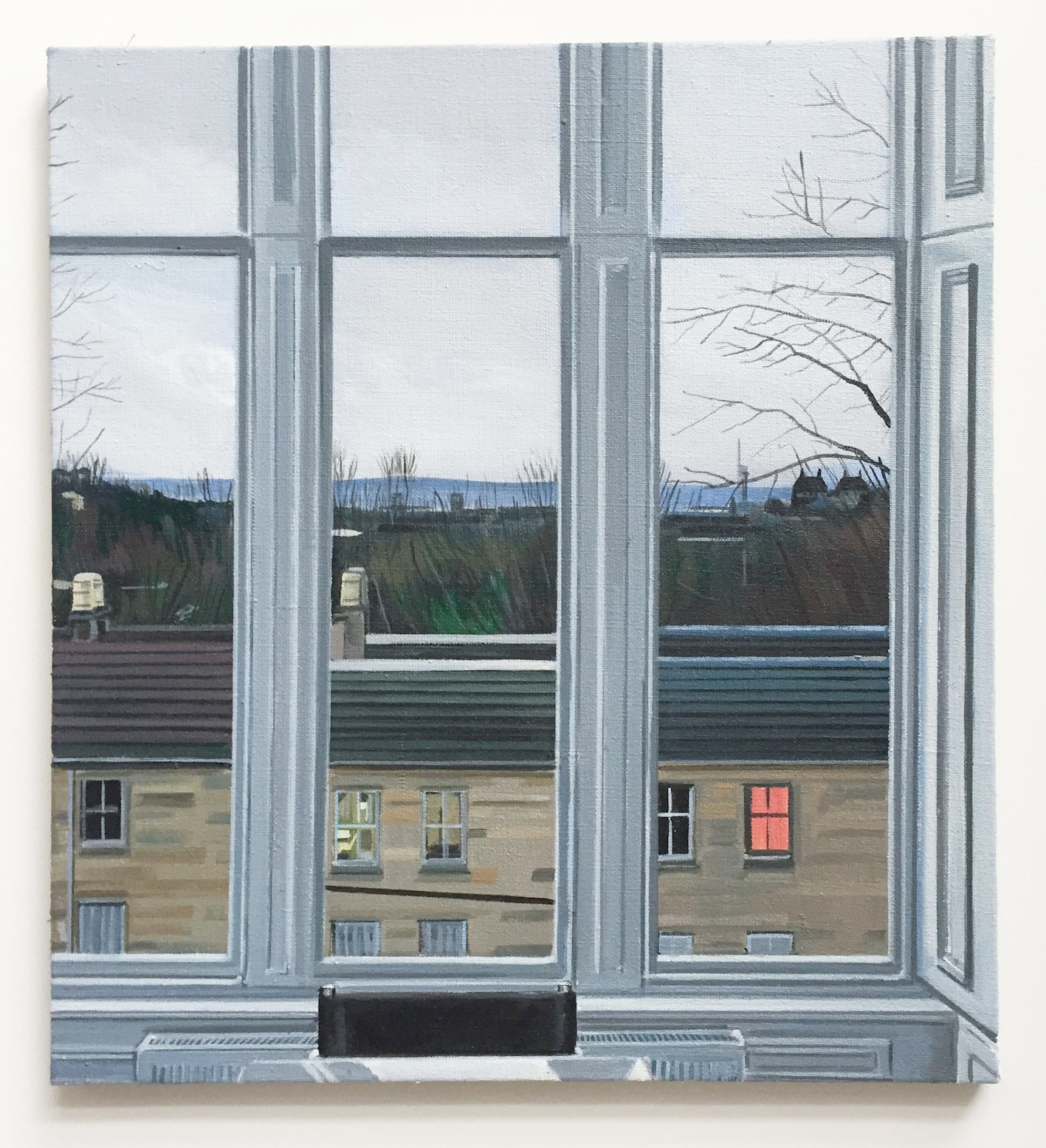 Wilton St. Window 7 , January 2018, 22 x 20 inches, acrylic on linen.