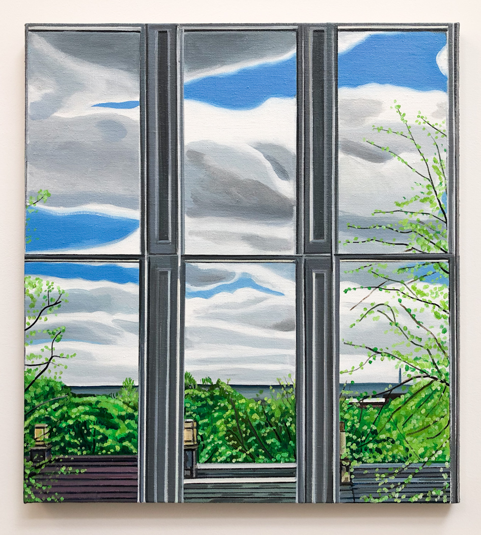 Wilton St. Window 13 , 12. May 2018, 22 x 20 inches, acrylic on linen.