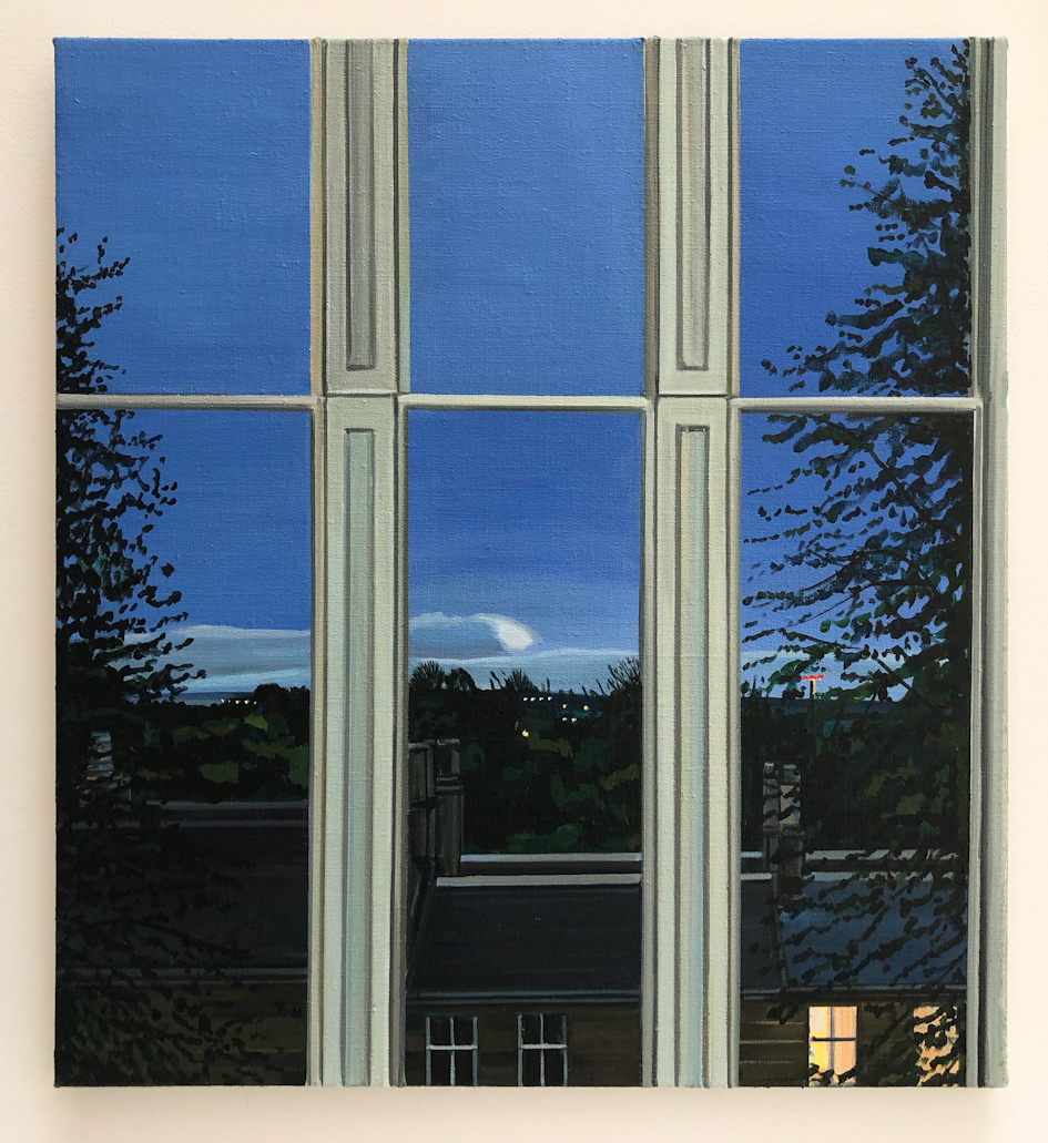 Wilton St. Window 14 , 16. May 2018, 22 x 20 inches, acrylic on linen.