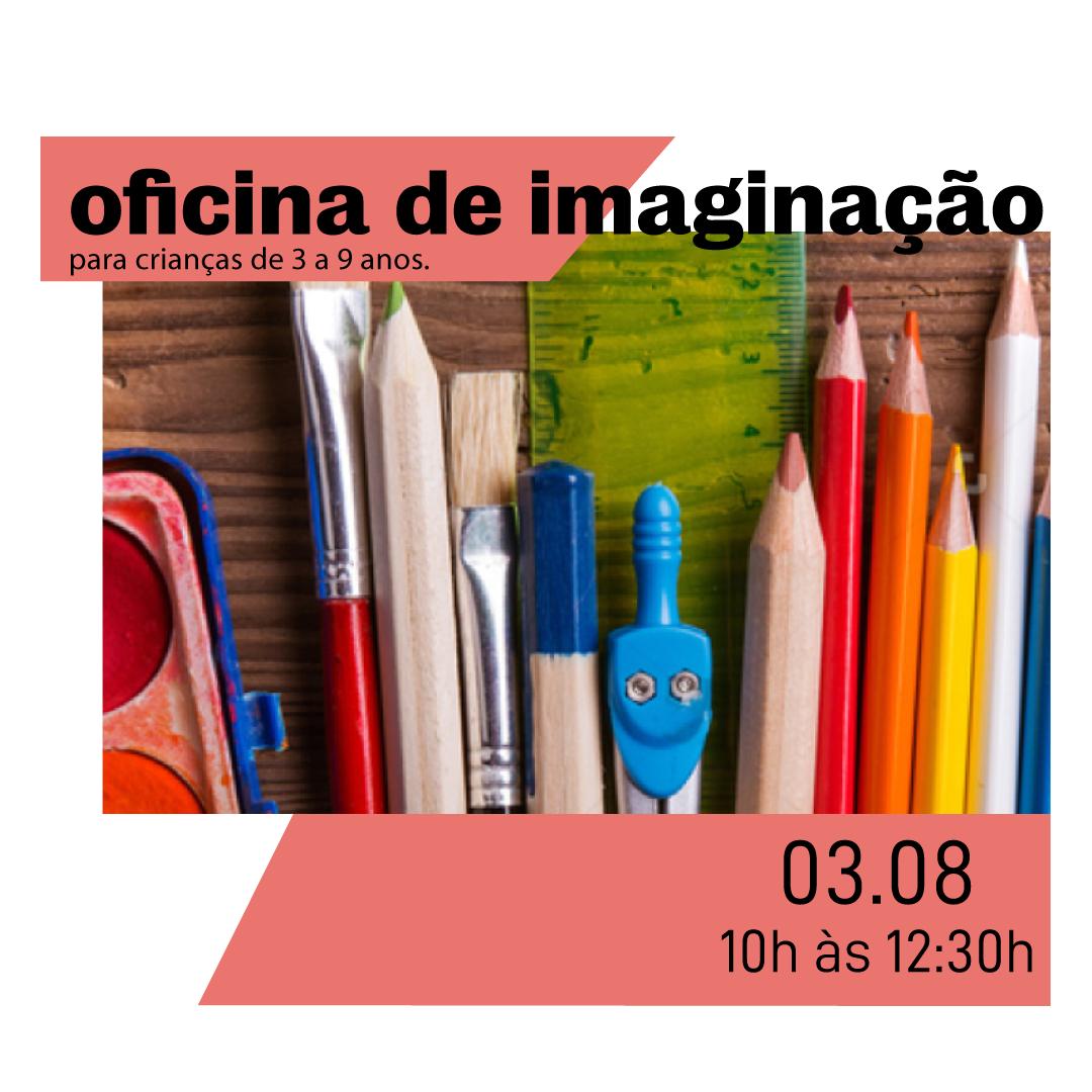 Oficina de Imaginação - Oficina de arte para crianças de 3 a 9 anos com o artista plástico Max Demiam.