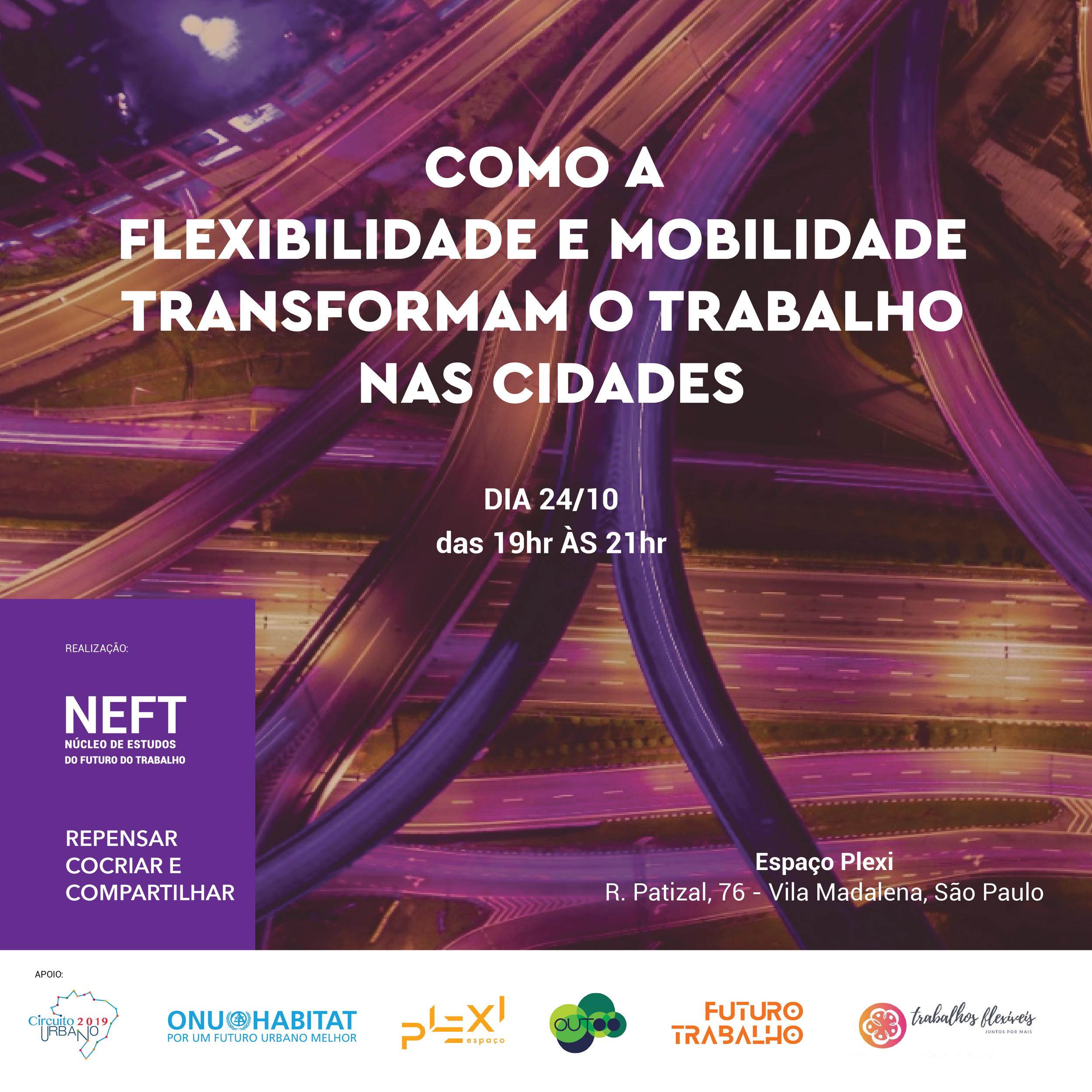 ONU HABITATCircuito Urbano - Um novo cenário começa a surgir, impactando como, onde e quando o trabalho pode ser feito.Neste encontro iremos discutir a importância da flexibilidade e mobilidade para o trabalho e seu impacto nas cidades.