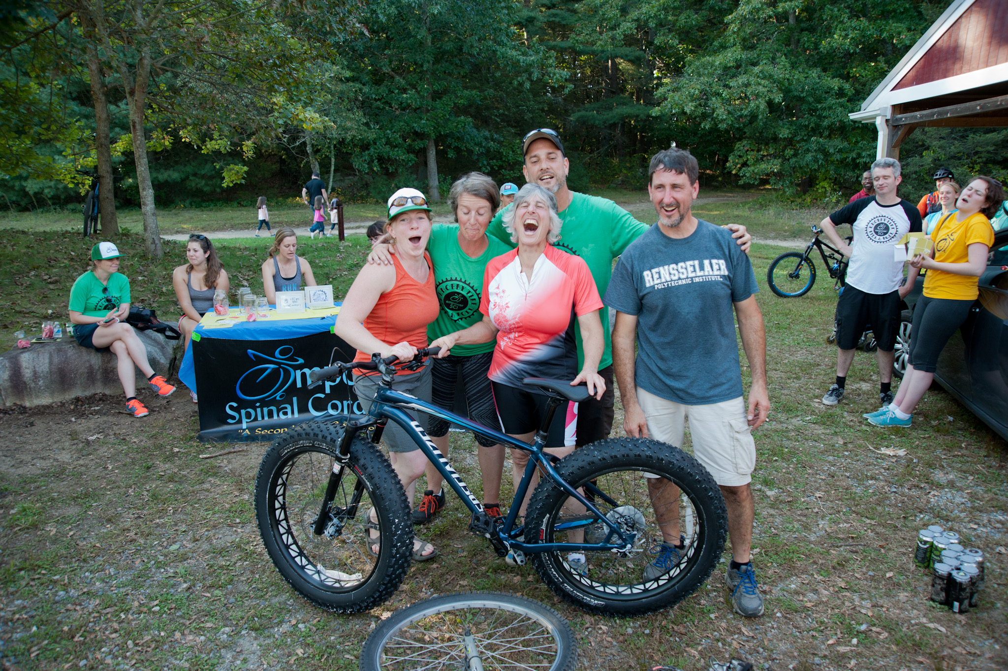 Big Winner, Faith ditching her old bike for her auction prize, a new Fat Bike!