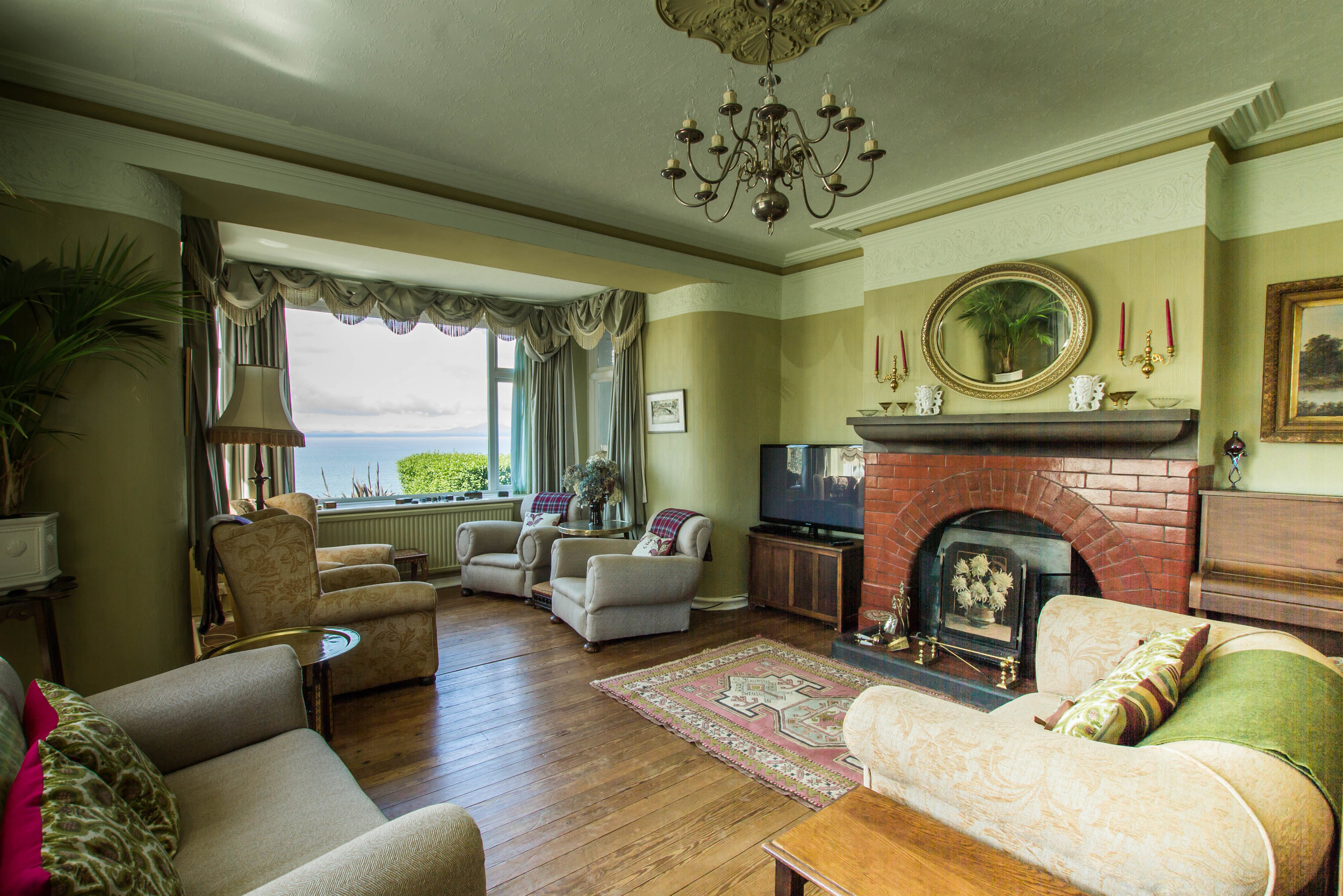 The large living room at Hafod Wen