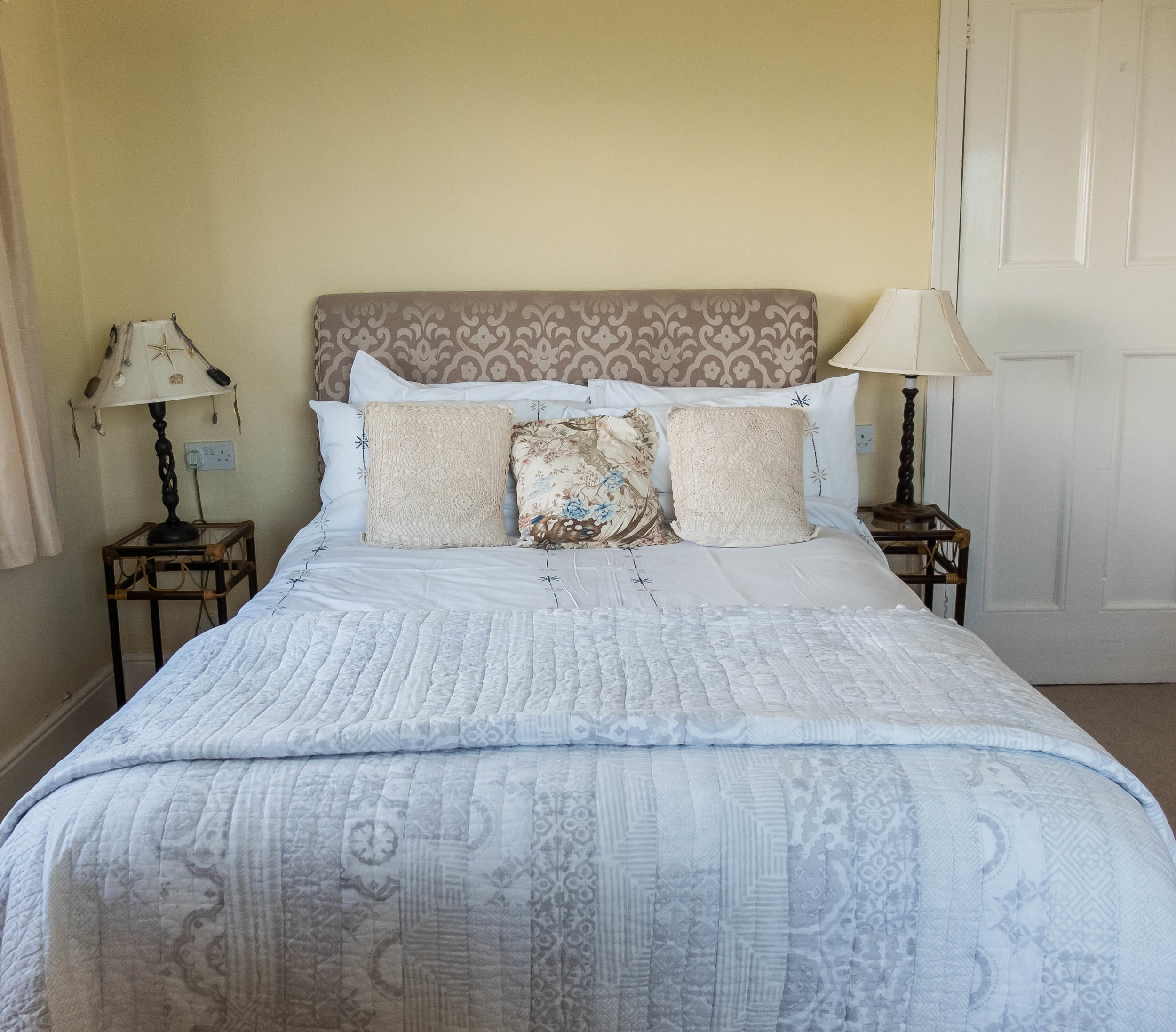 The double room at Hafod Wen Cottage