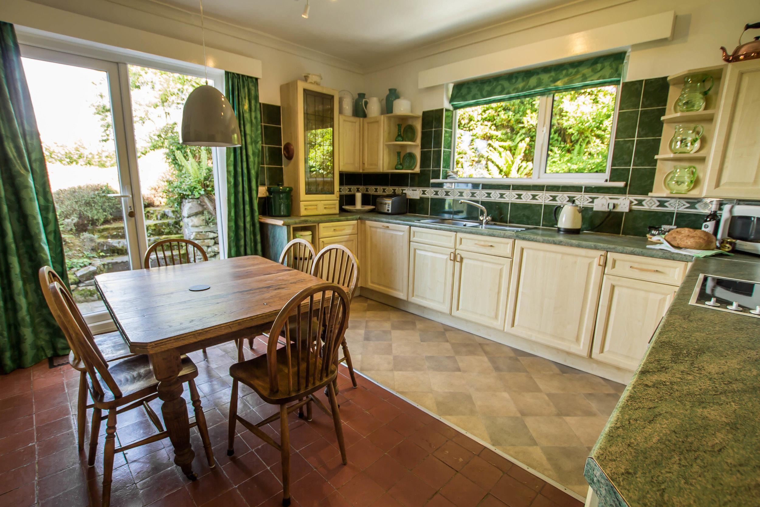 Kitchen at Hafod Wen Cottage