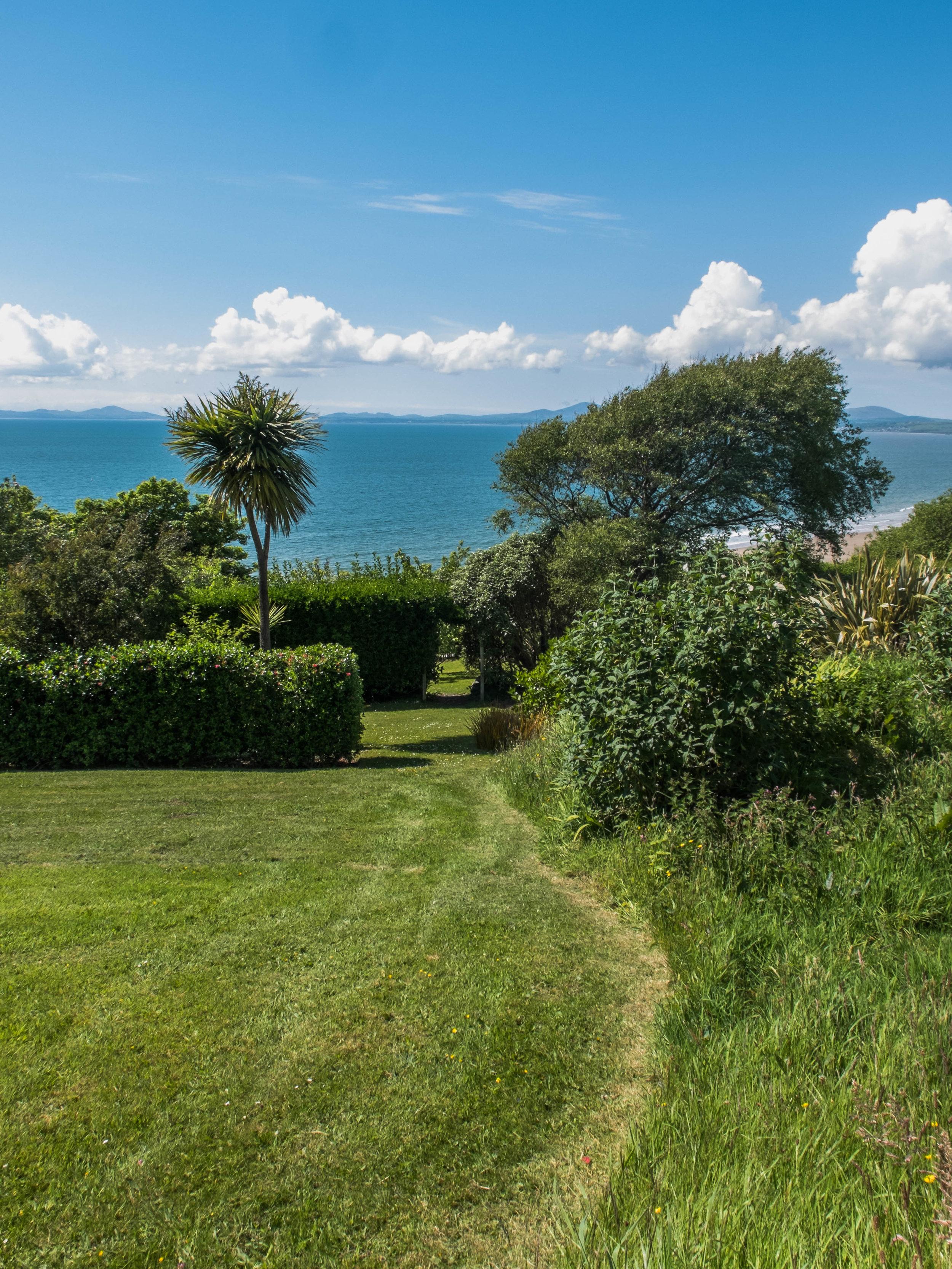 Sea views from Hafod Wen gardens