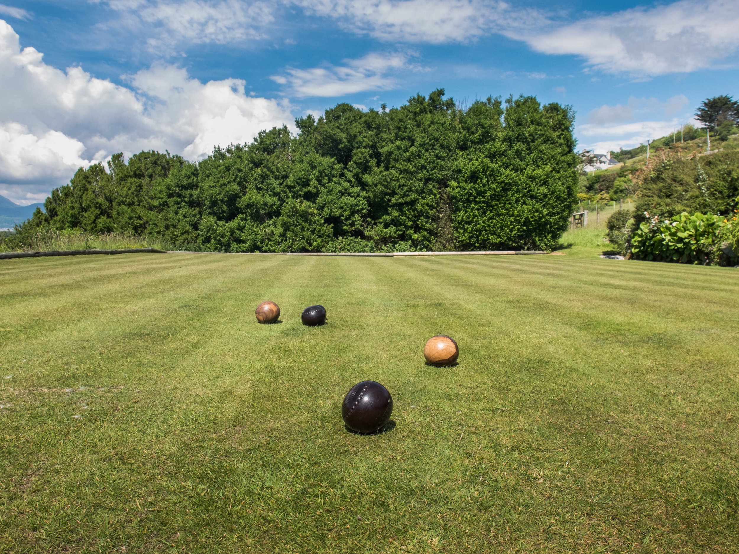 Our private Bowls court at Hafod Wen