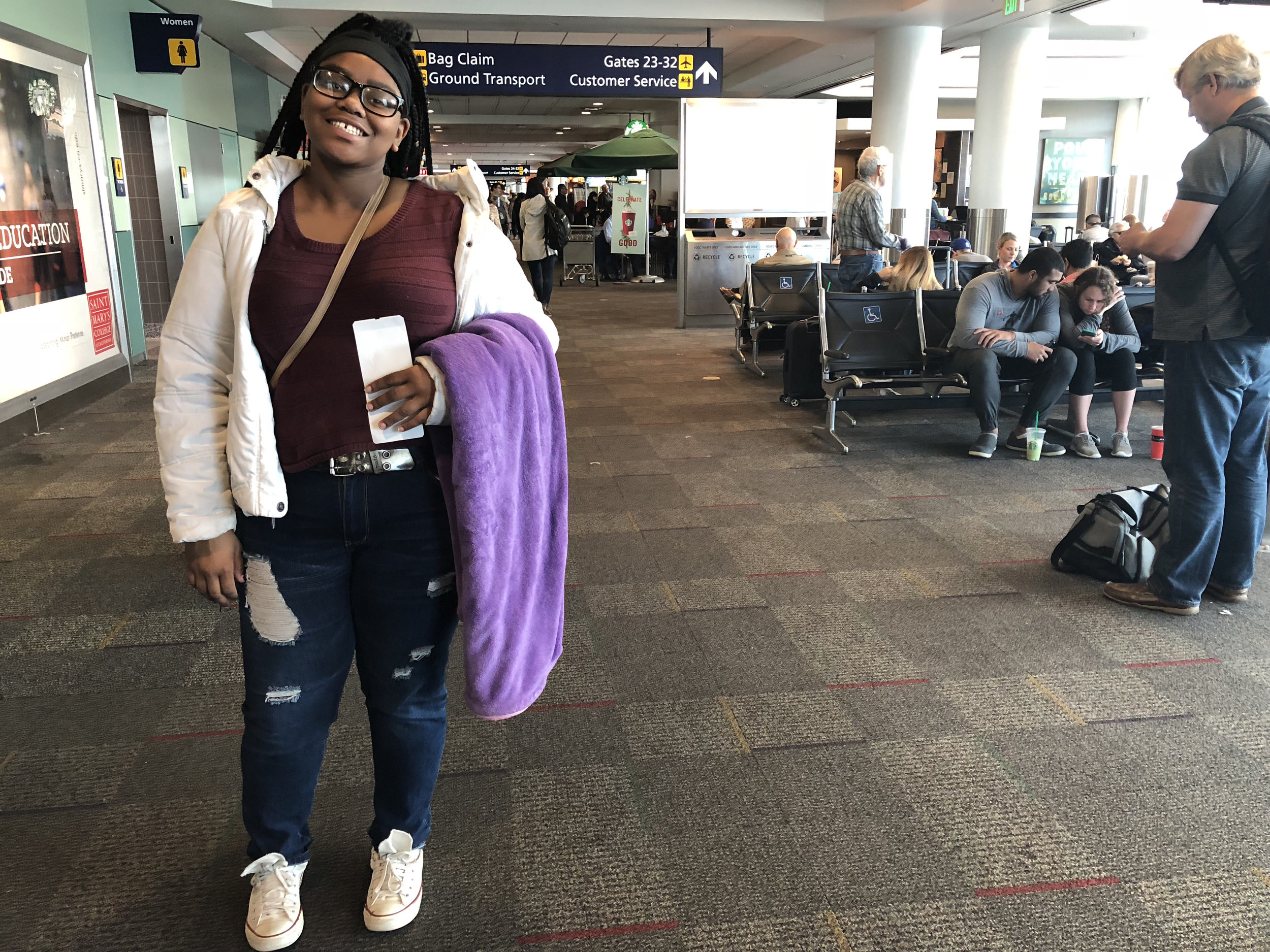RYSE members and staff attended a conference in LA. This was RYSE member Sharlia's first time traveling on a plane!