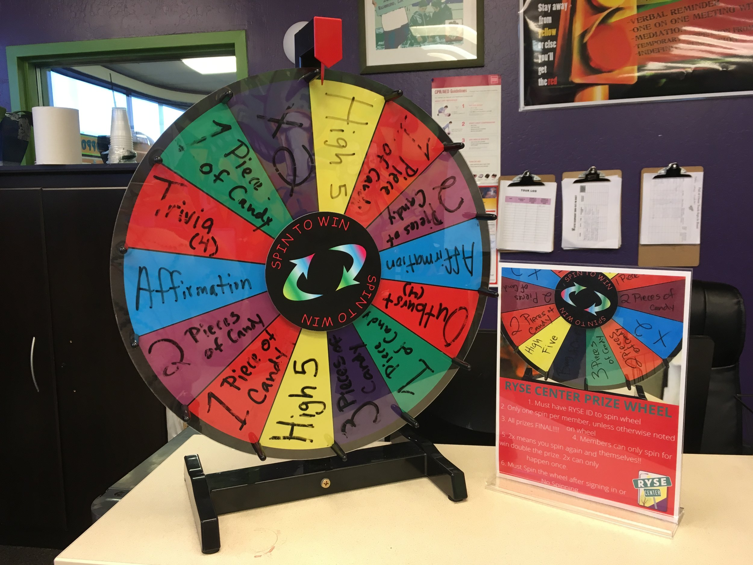 RYSE Center Prize Wheel