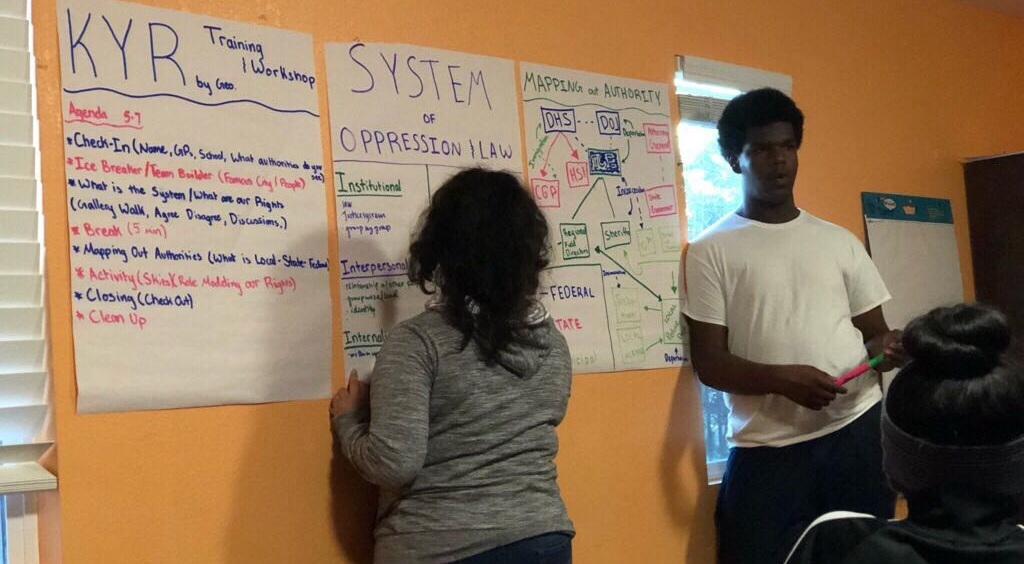 January 2019:   RYSE youth organizers facilitate and lead a workshop with their peers on systems of oppression and knowing your rights.
