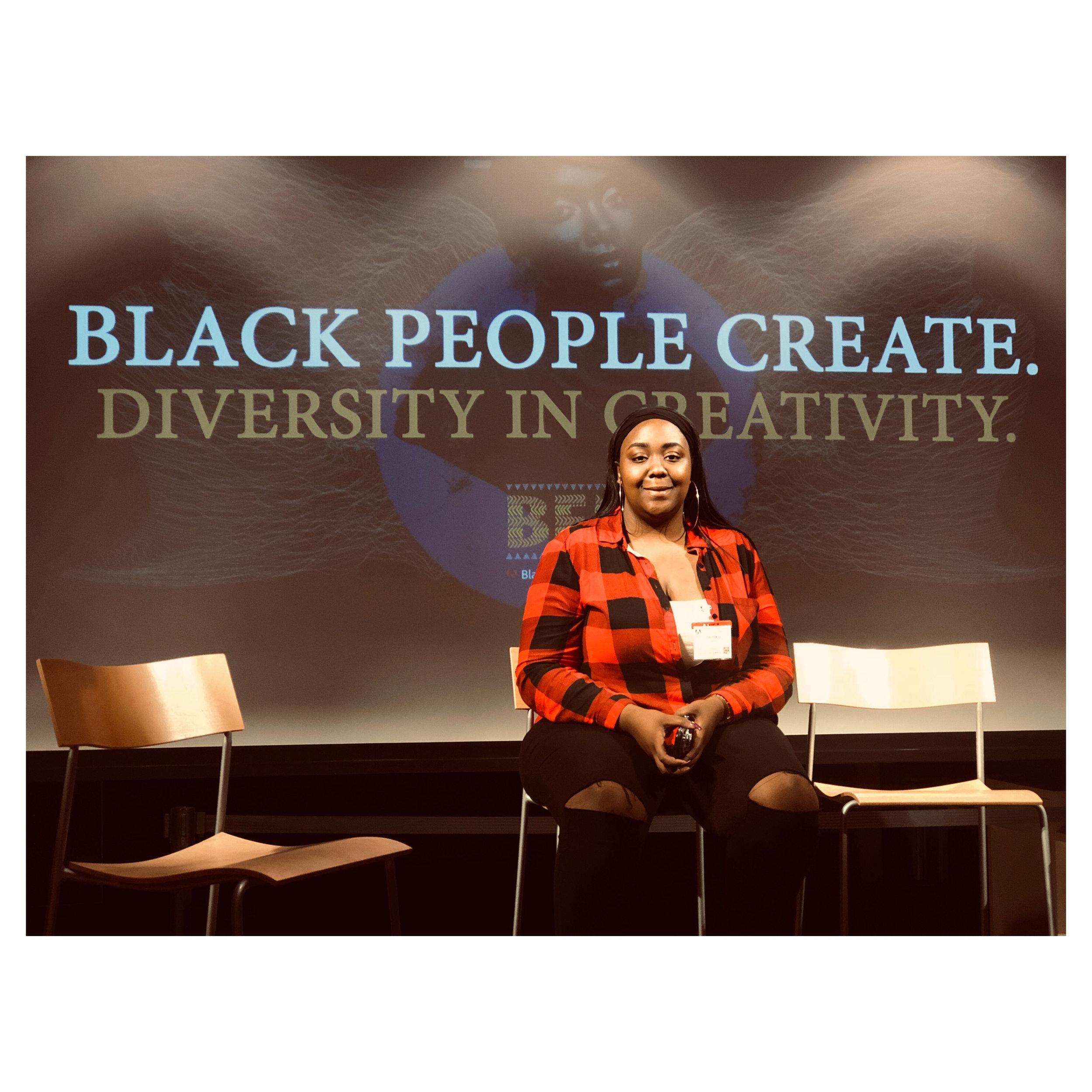 RYSE Video Production Coordinator speaks at Adobe's Black People Create
