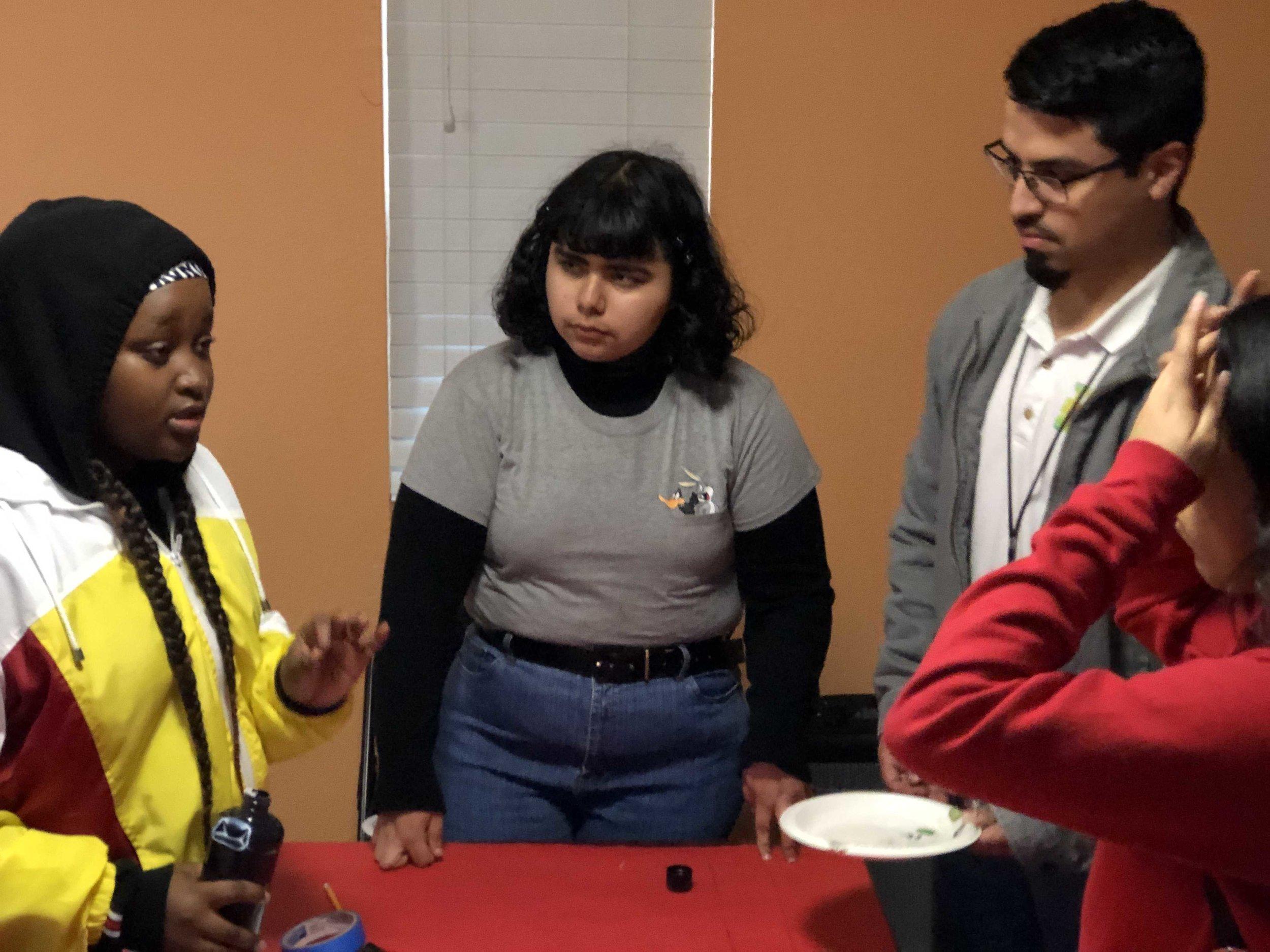 RYOT Intern Lorraine leads a workshop