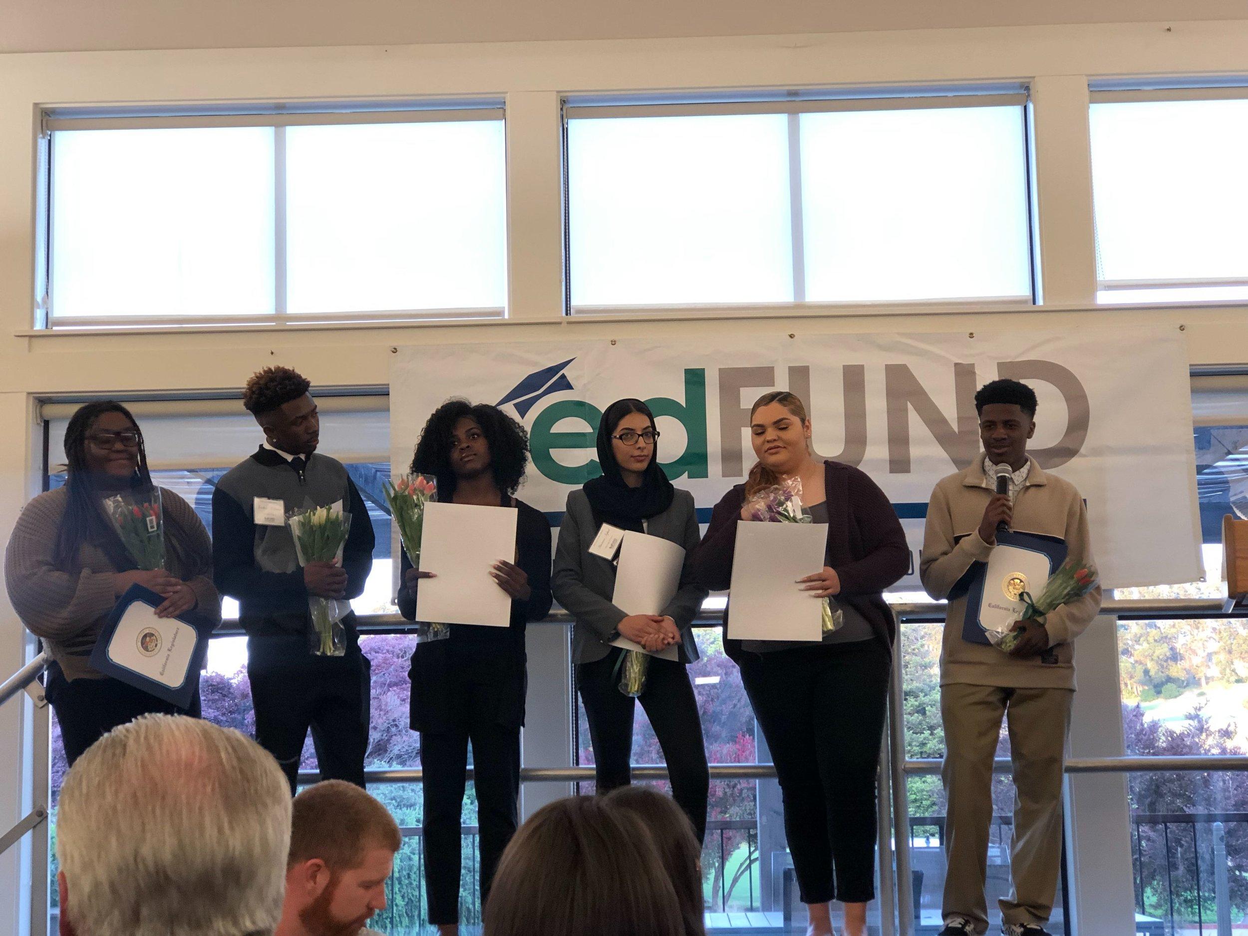 Youth Intern Sukari receives EdFUND scholarship