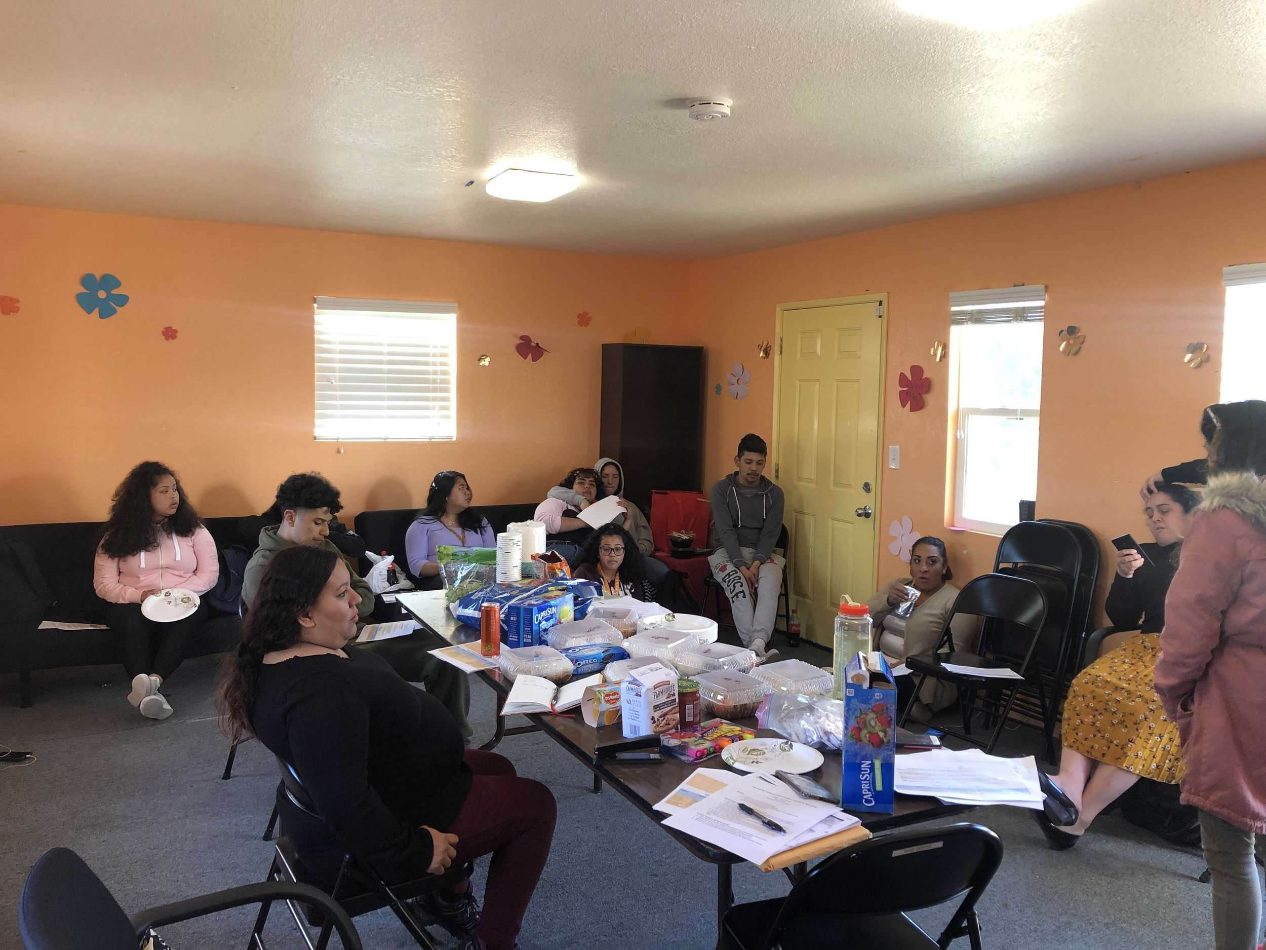 Youth Organizers prepare students and parents for district meeting