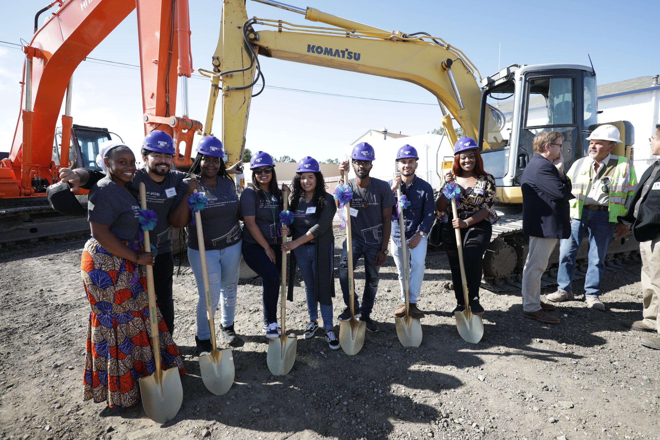 From Left to Right:  Former youth members, most of whom are currently RYSE staff. Ciera-Jevae Gordon, Eddy Chacon, Gemikia Henderson, Dalia Ramos, Monica Diaz, Tyjohn Sykes, Edgar Rosales, and Cynthia Ezeokoli.