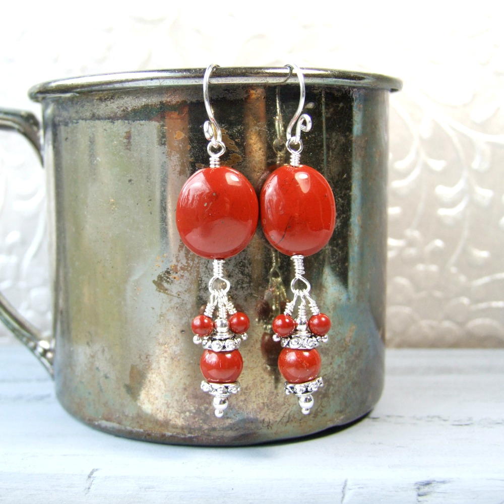 Red Jasper Dangle Earrings