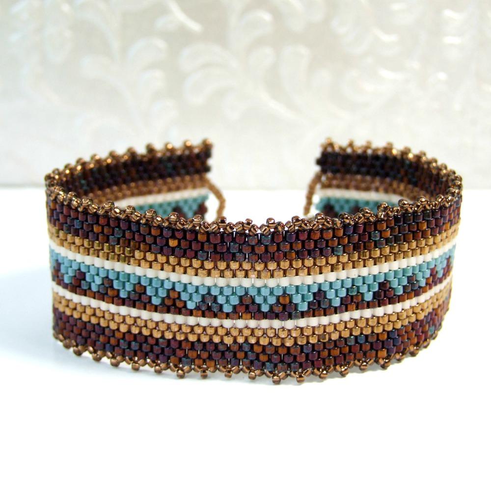 Bohemian Double Strand Bracelet Handmade Jewelry Blue Boho Copper Bracelet Artisan Beaded Bracelet Gift for Her,made in USA,JDByMonica