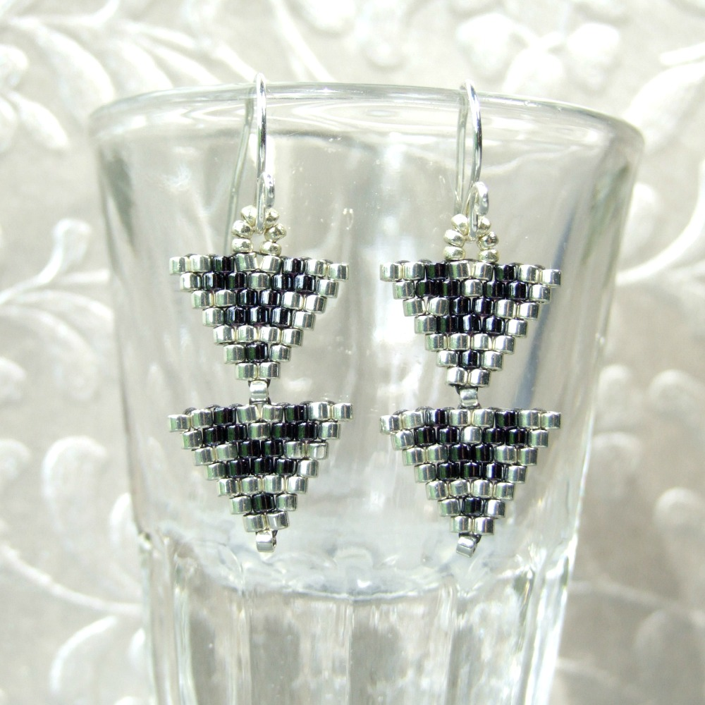 Small Double Triangle Earrings