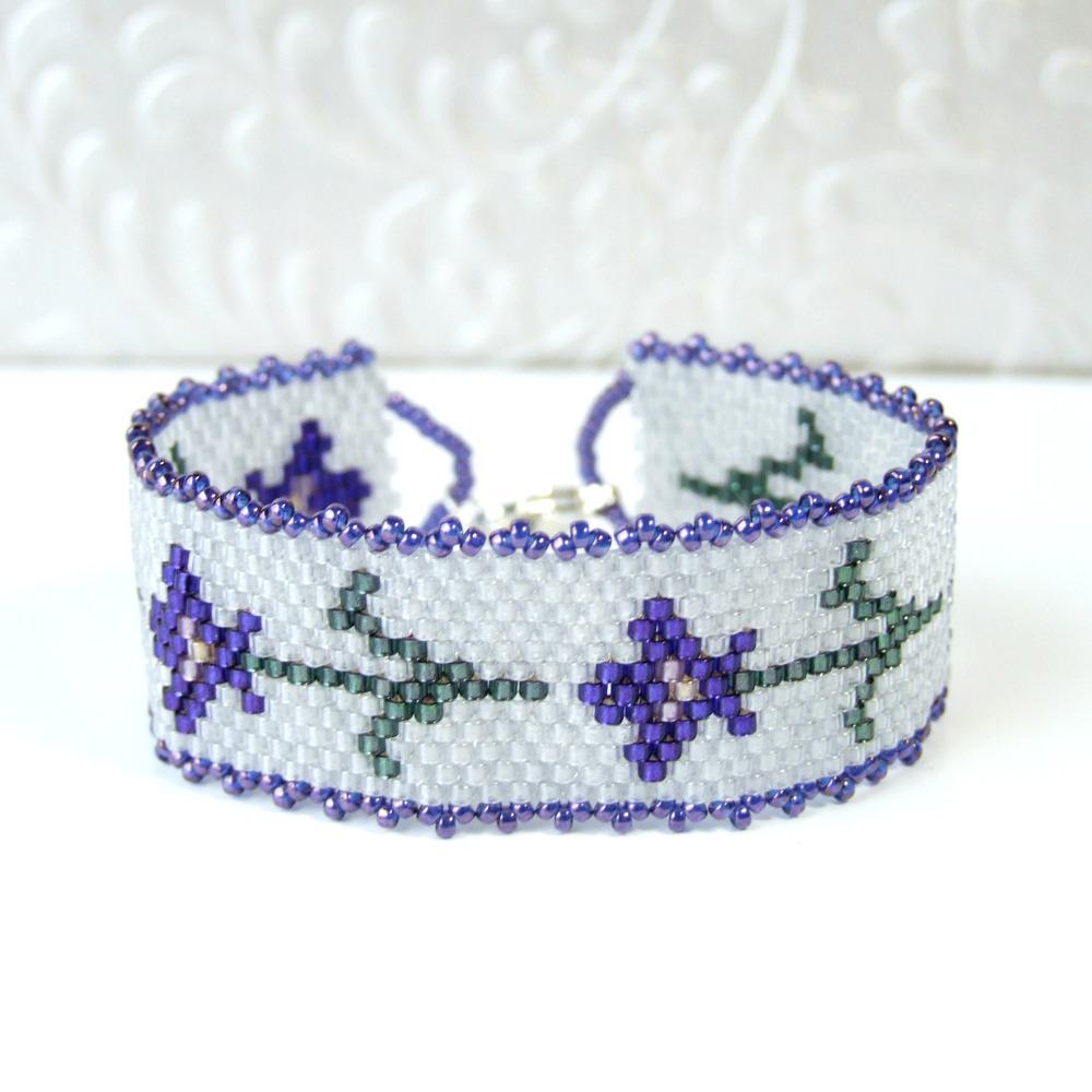 Purple Iris Bracelet - Small Size