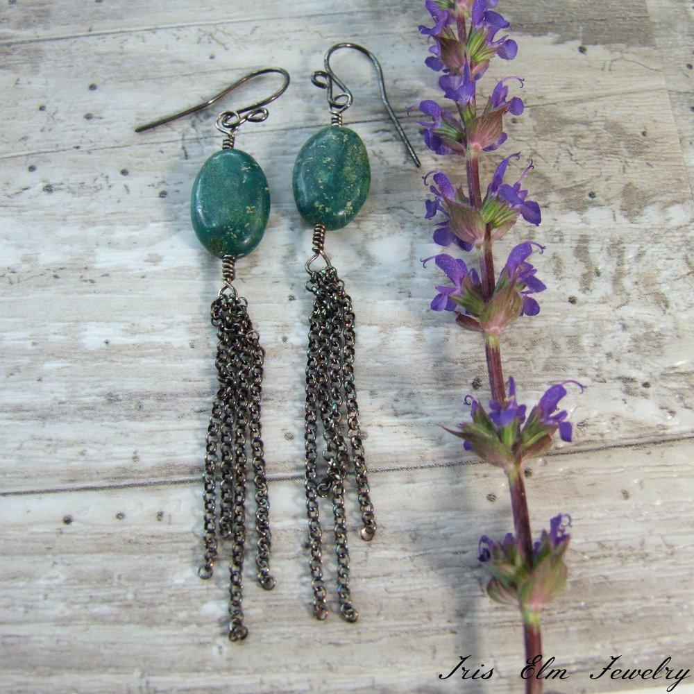 MADE TO ORDER. Oxidised earrings Gift for her Handmade earrings Sterling silver oval earrings