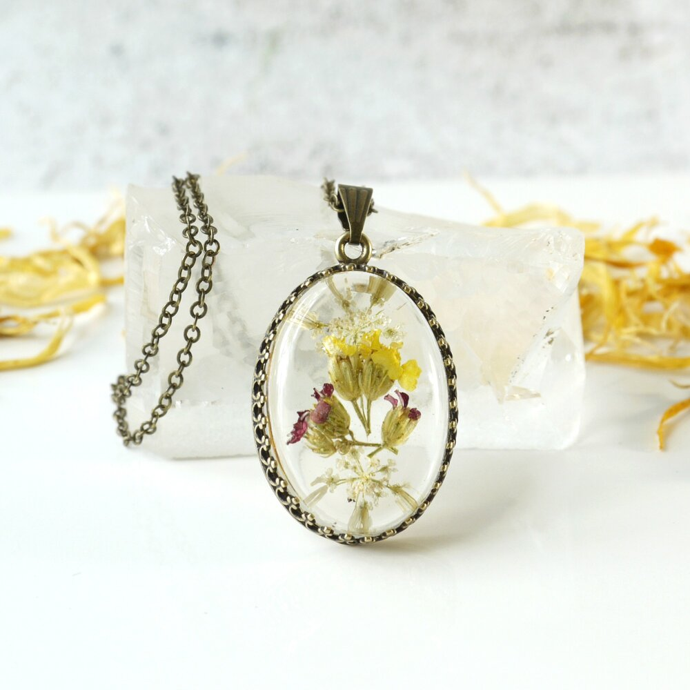 Unique Jewelry Birthday Gift for Women Wildflower Charm Pendant Sterling Silver Pendant Necklace Necklace for Women Wildflower Necklace