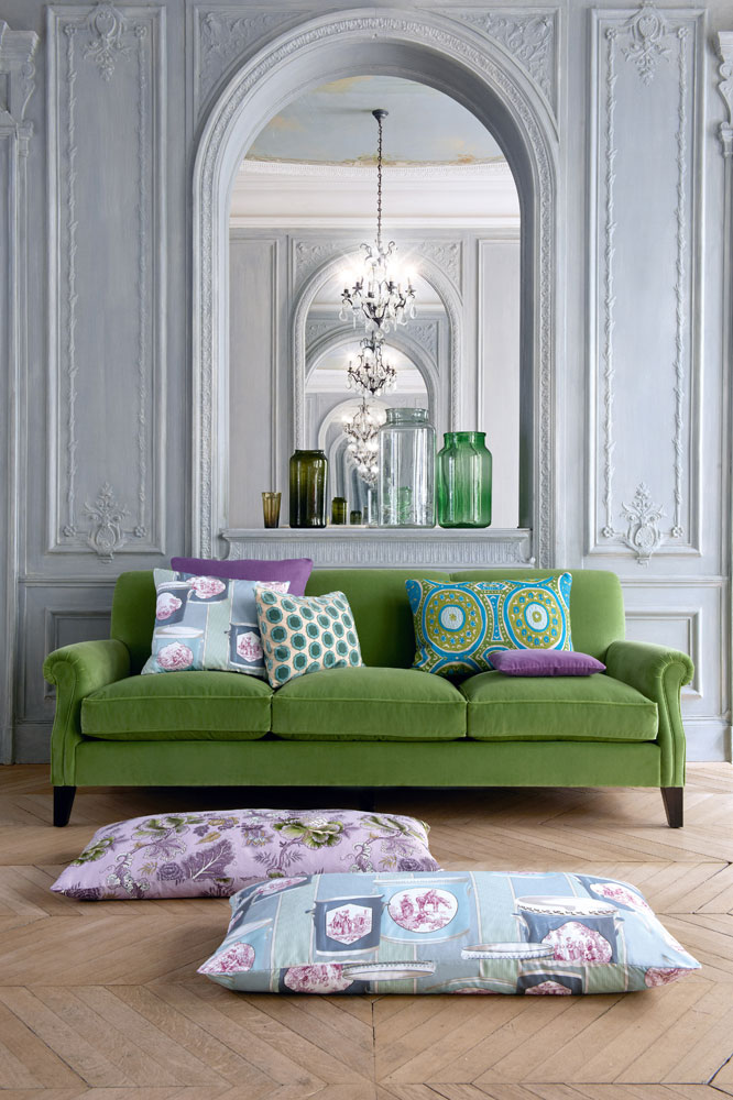 Manuel Canovas - Samira Collection. Don't you just love the large pillows?