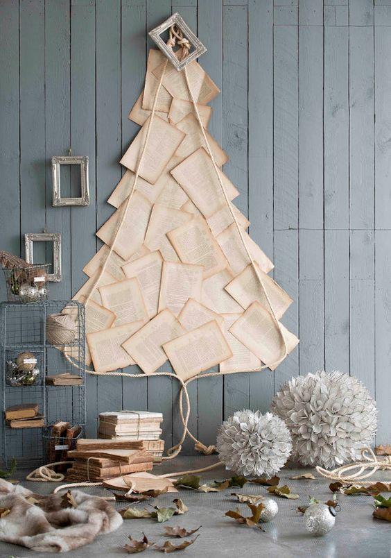 Vintage Hymn Paper Tree