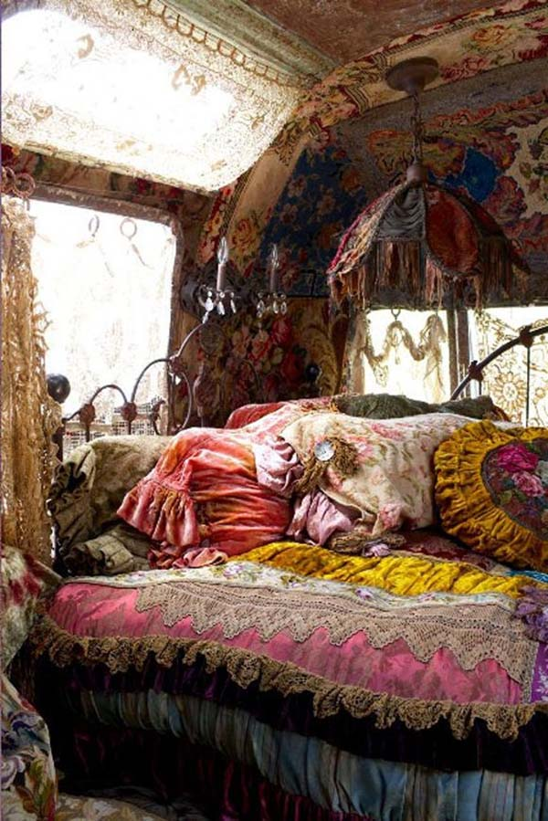 Bohemian Style with Velvets and Fringes. Source: Free People