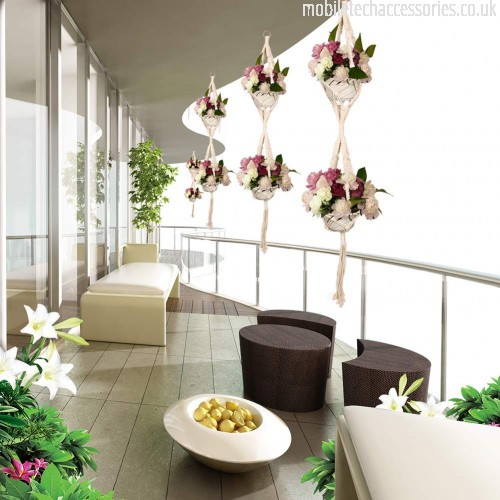 Ymobiletechaccessories uk Step 2 Pack Macrame Plant Hangers Indoor White Cotton Rope Flower Pot Hanging Plant Holders for Outdoor Garden Home Decor 2 Tier 2 Pack B07GXMH9YC_4-500x500_0.jpg