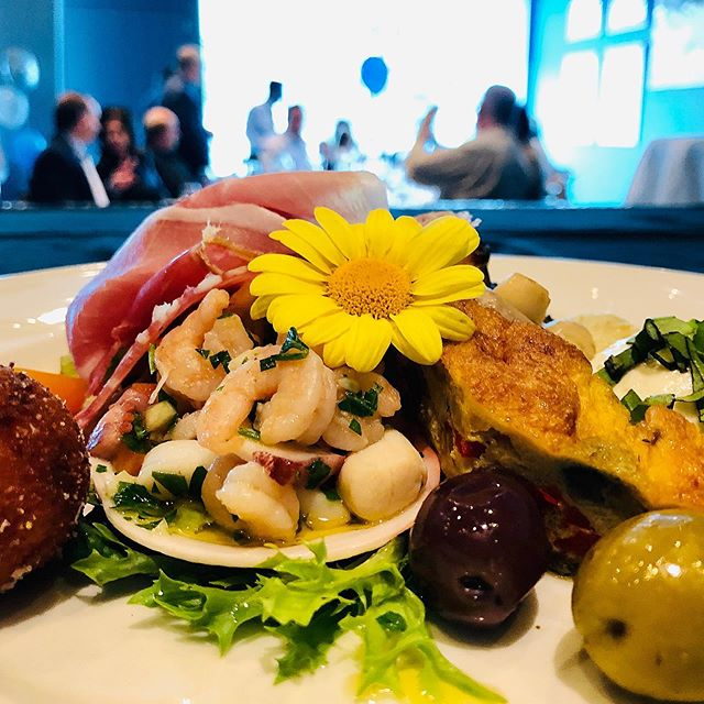 Happening at this moment. A delicious plated antipasto by our Garde Manger Teresa #events #trimaniristorante #communion #antipasto