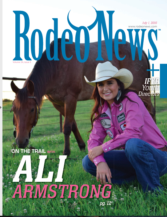 Rodeo News magazine. Cover shoot and feature story