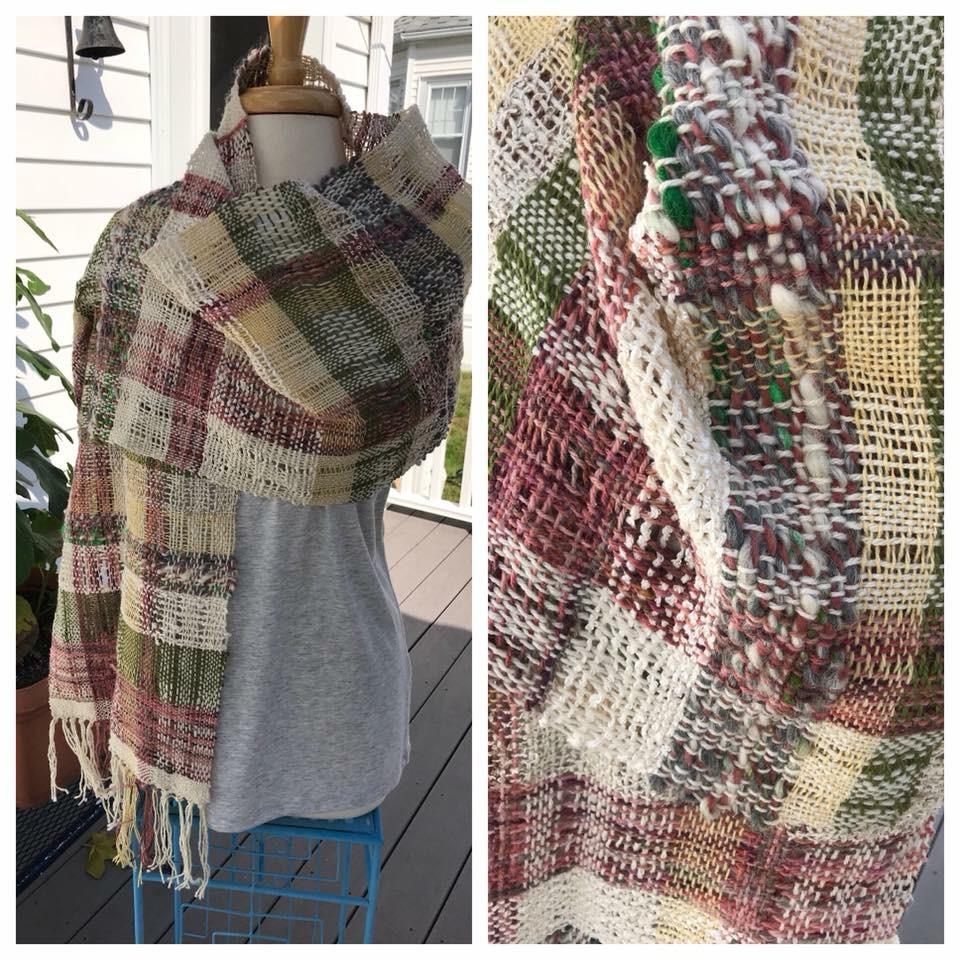 Enhanced weaving with hand spun yarn -