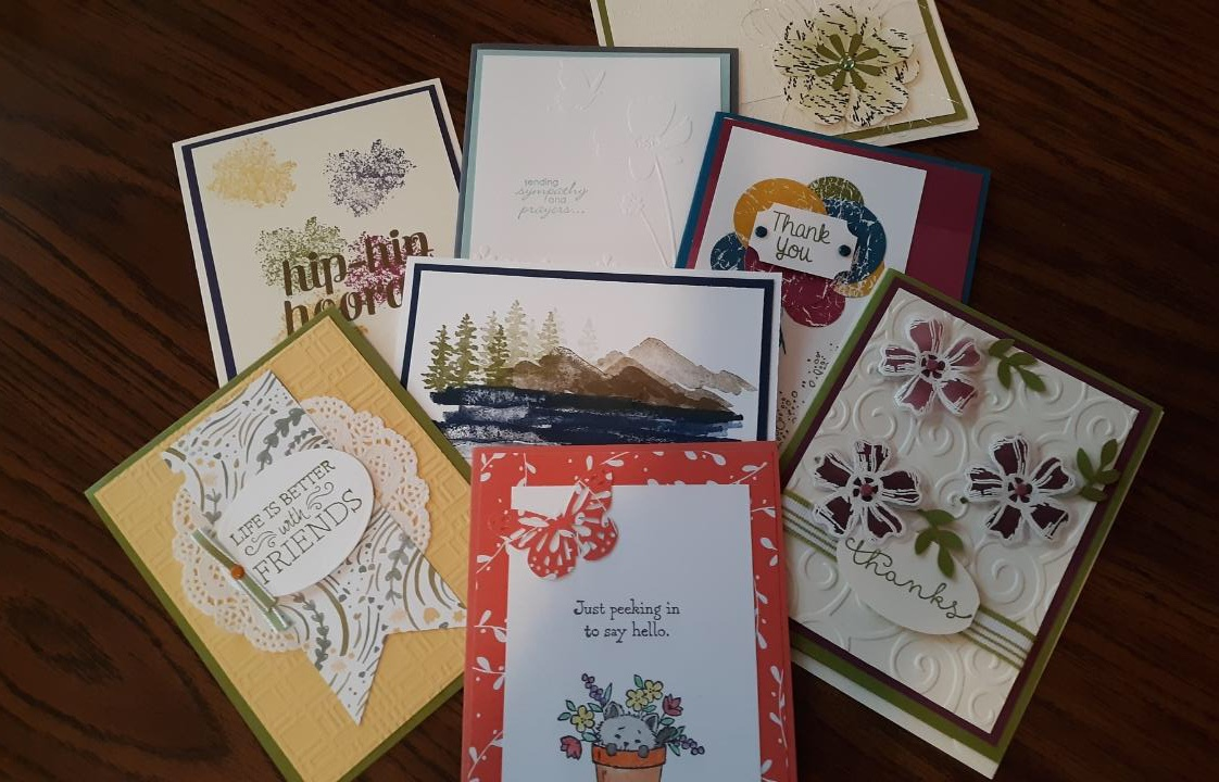 Greeting Card Designing - Instructor: Kathy LesicaDate: Sunday, Sept. 8, 9:00-12:00 (Half Day Class)Date: Sunday, Sept. 8, 1:00-4:00 (Half Day Class)Cost: $40Maximum: 6 spots each classNo Experience Necessary.