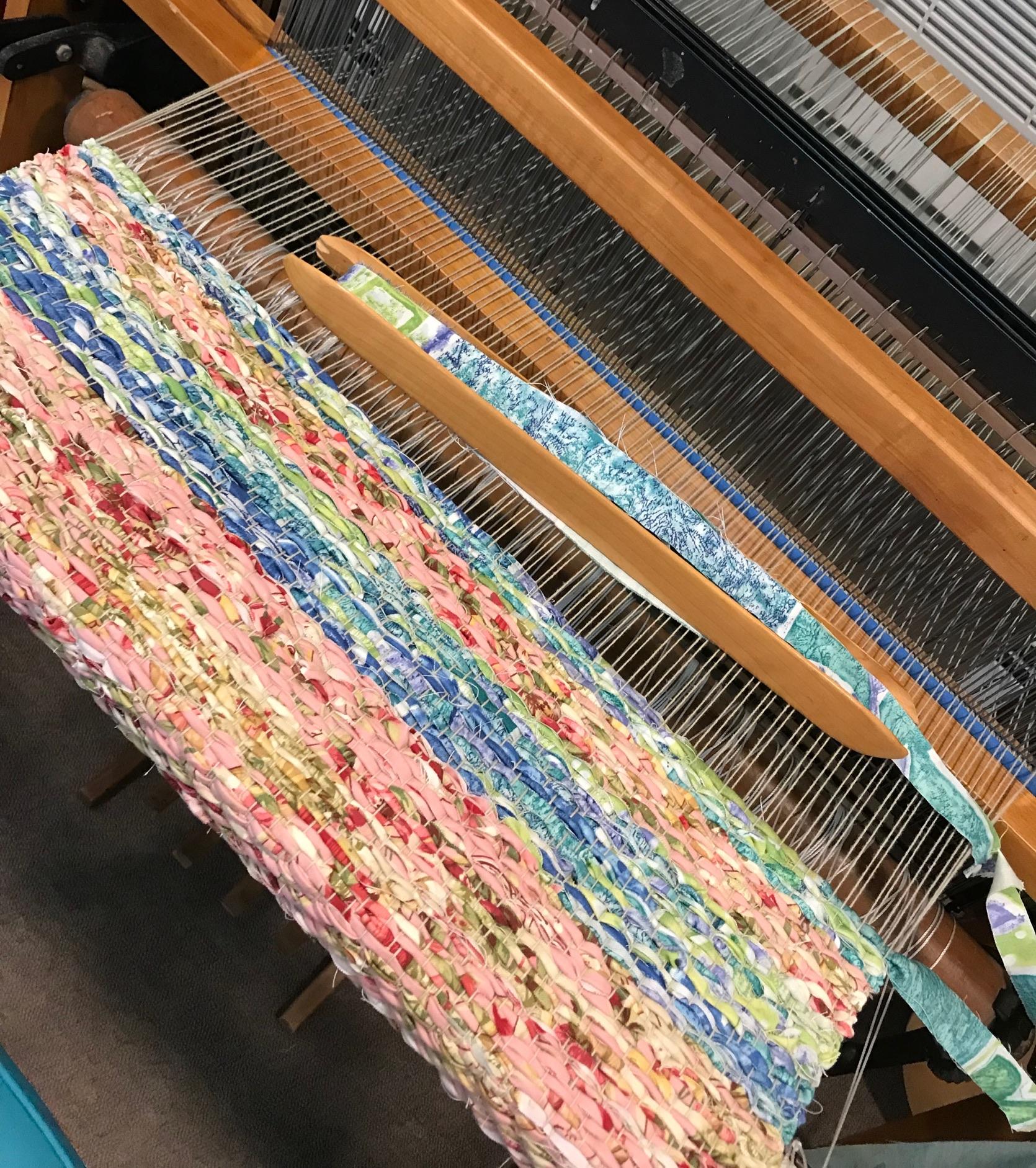 Rag Rug Weaving -