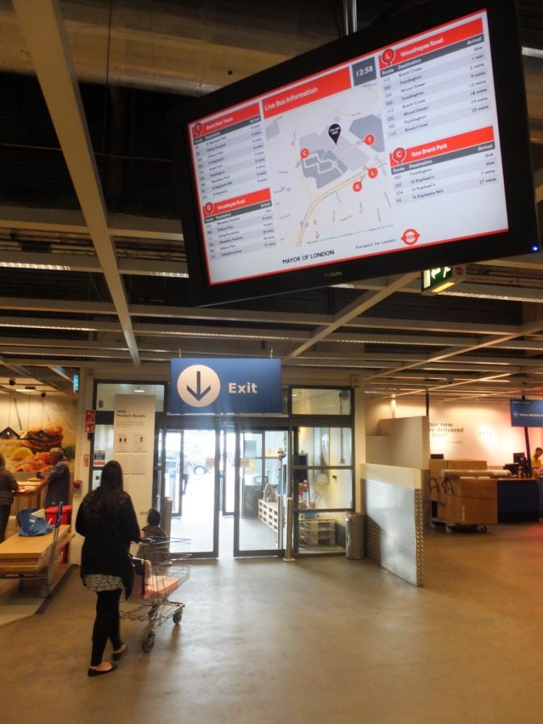 Digital Sign in Ikea