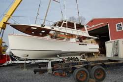 Installation of Painted Deck to Hull