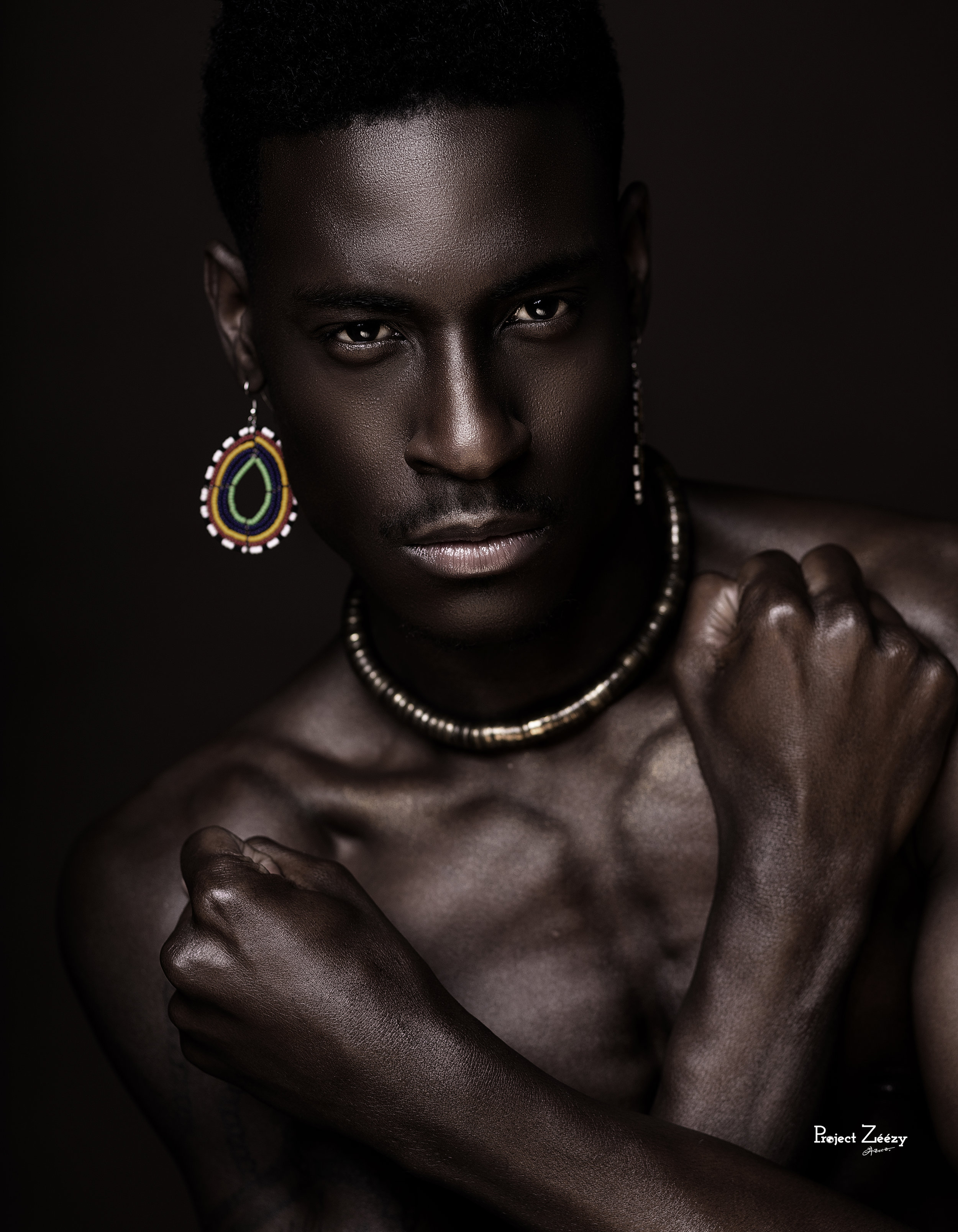 Model:David, make up done by Vanessa Lester, photoshoot was inspired by the movie BlackPanther which was show-cased during Black History Month Feb 2018,Photographed by Projectzeezy. -