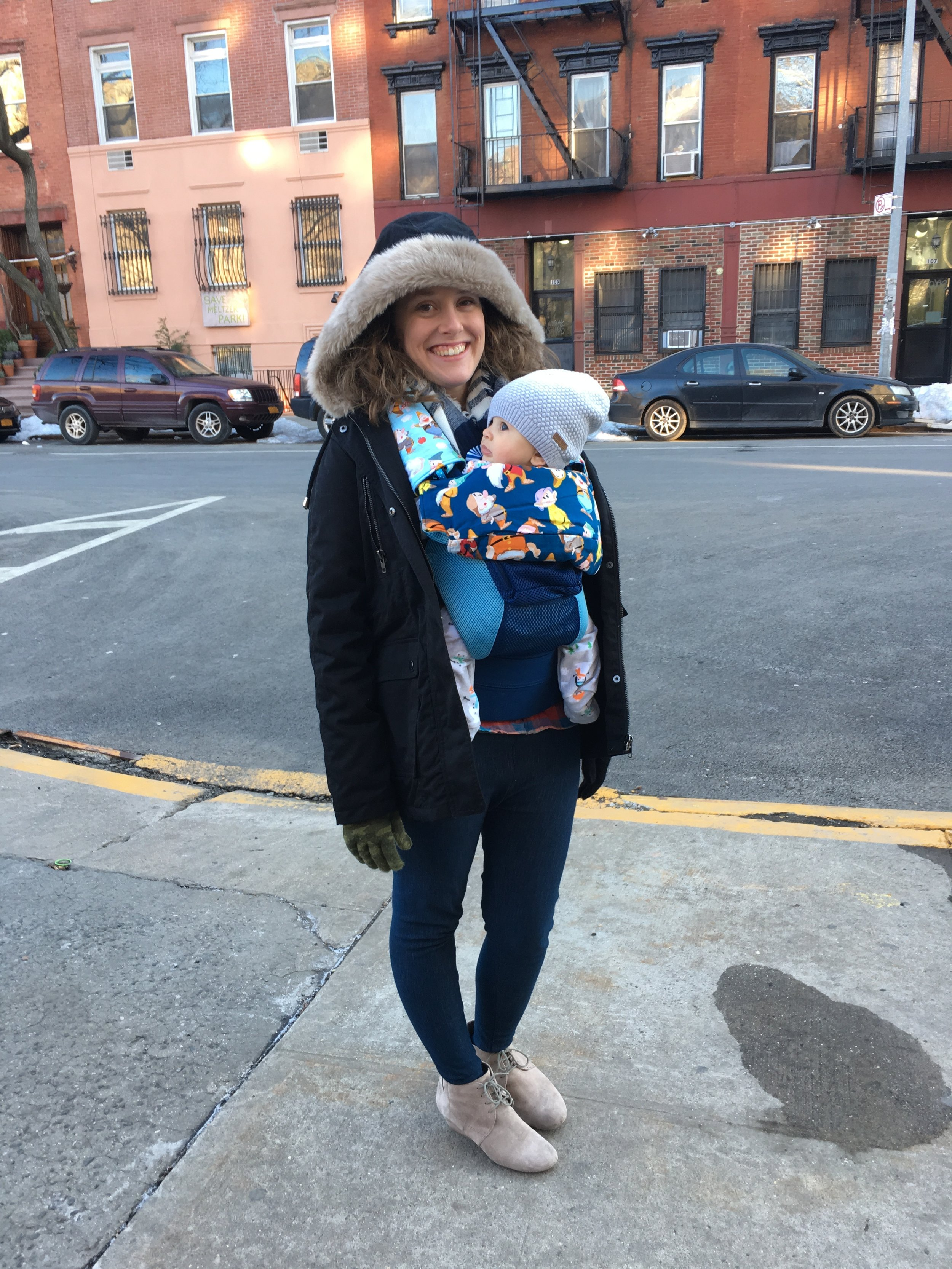 Noah's first trip to Manhattan. Pretty sure babywearing literally saves lives when subways are involved.
