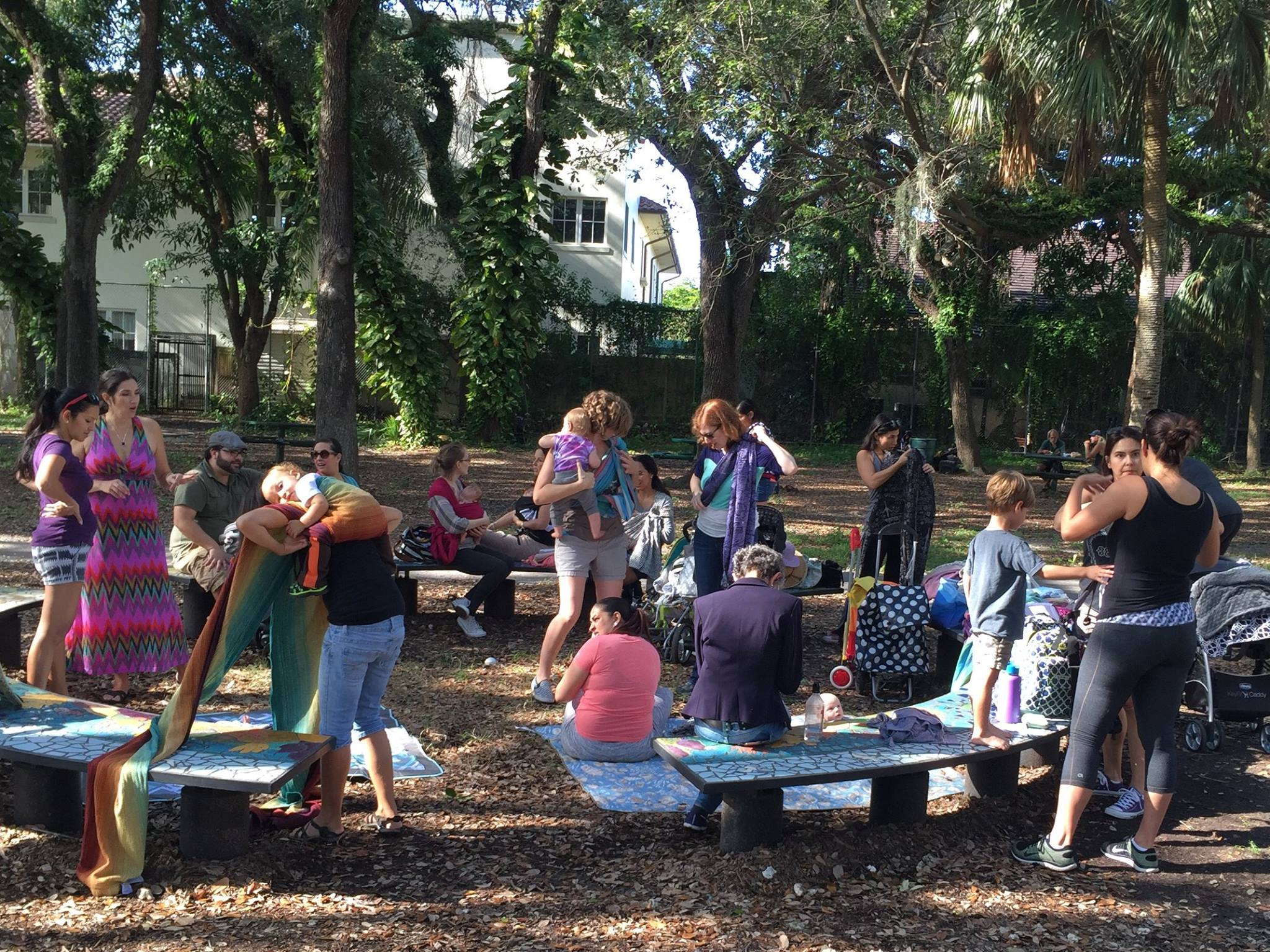 Stole this from our group's page. If you're a SFL mom, look us up on Facebook @ South Florida Babywearing!